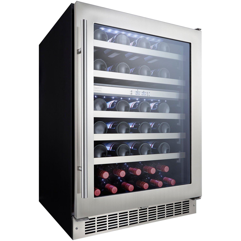 danby silhouette 51 bottle dual zone built in wine refrigerator wayfair. Black Bedroom Furniture Sets. Home Design Ideas