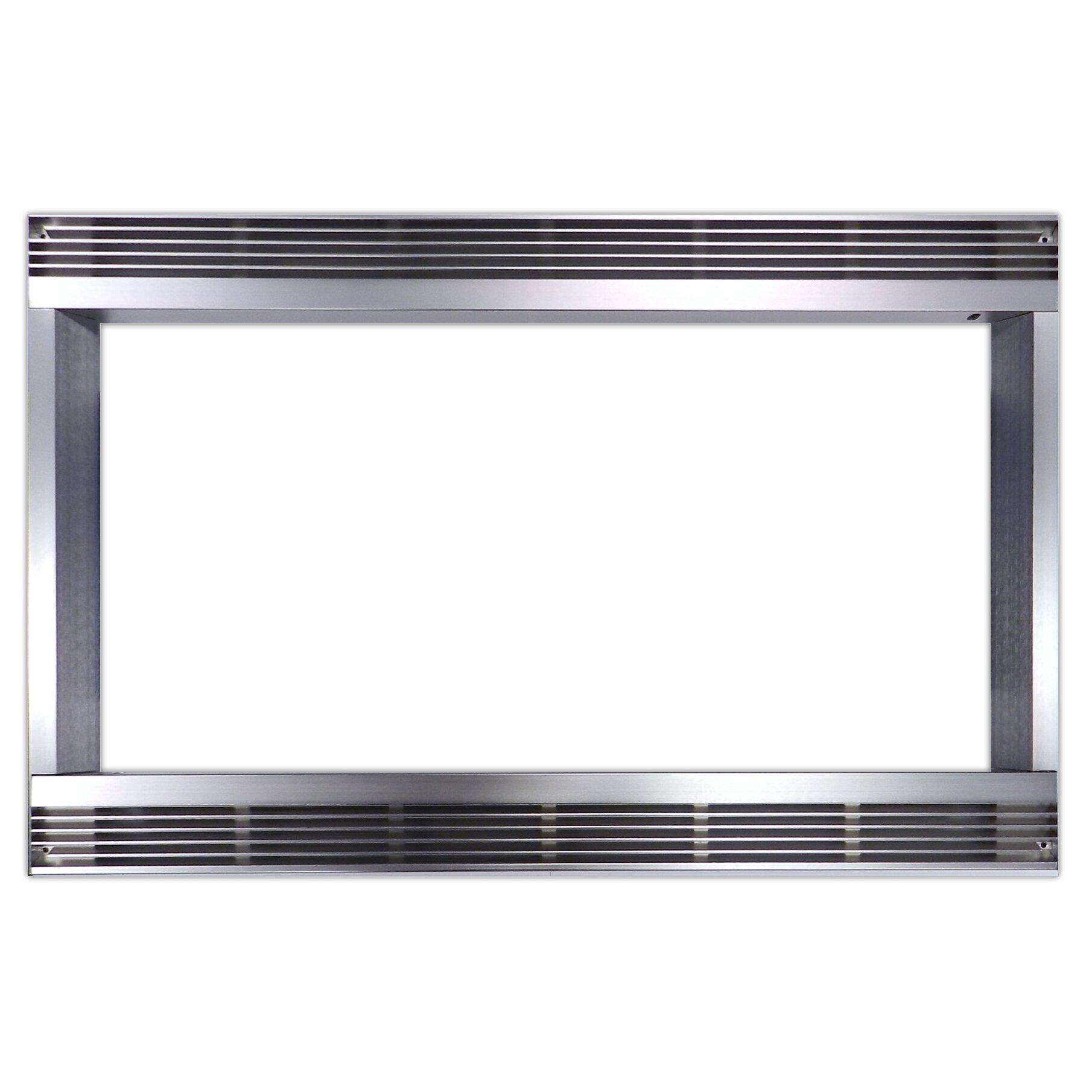 Sharp built in microwave trim kit reviews wayfair for Microwave ovens built in with trim kit