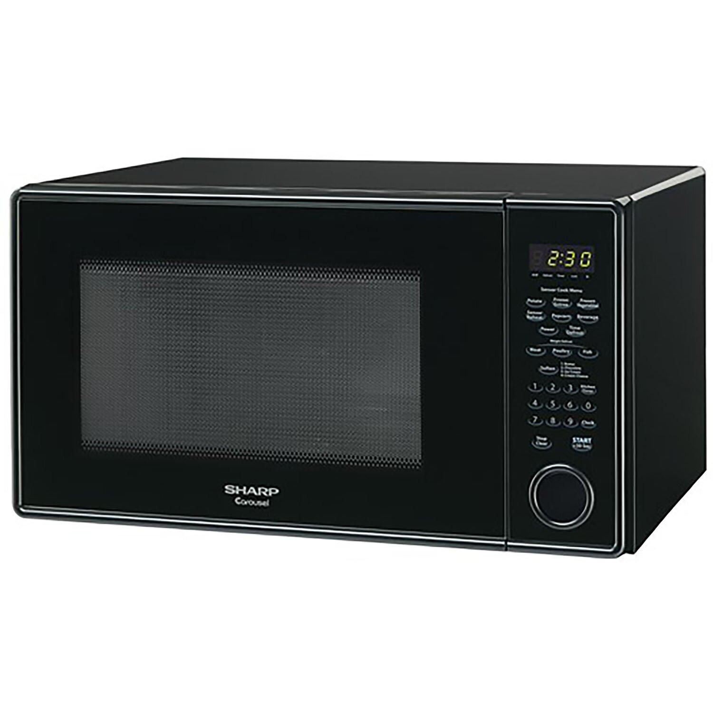 sharp 1 3 cu ft 1000w countertop microwave reviews wayfair. Black Bedroom Furniture Sets. Home Design Ideas