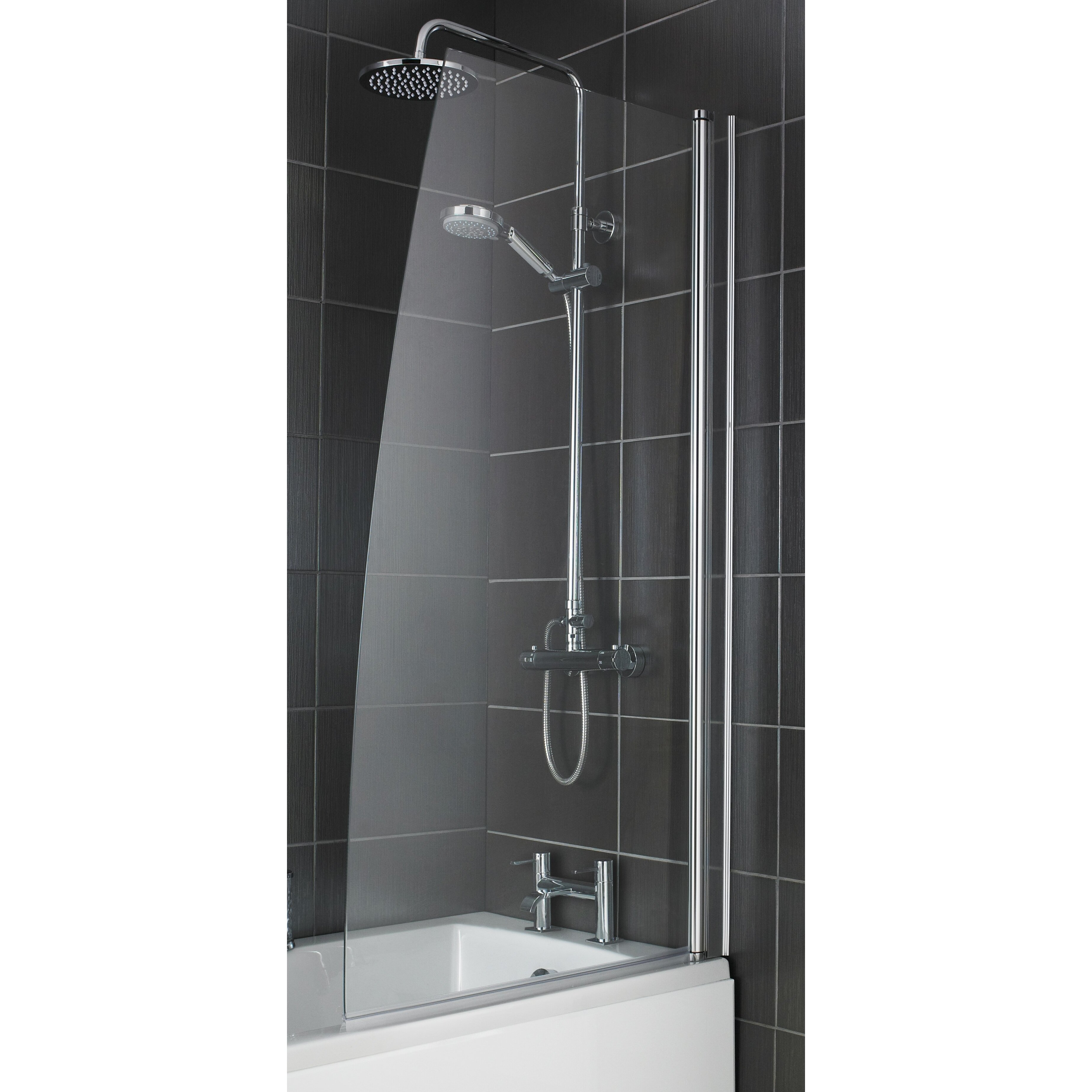 Premier 140cm x 79cm bath screen reviews wayfair uk Premiere bathroom design reviews