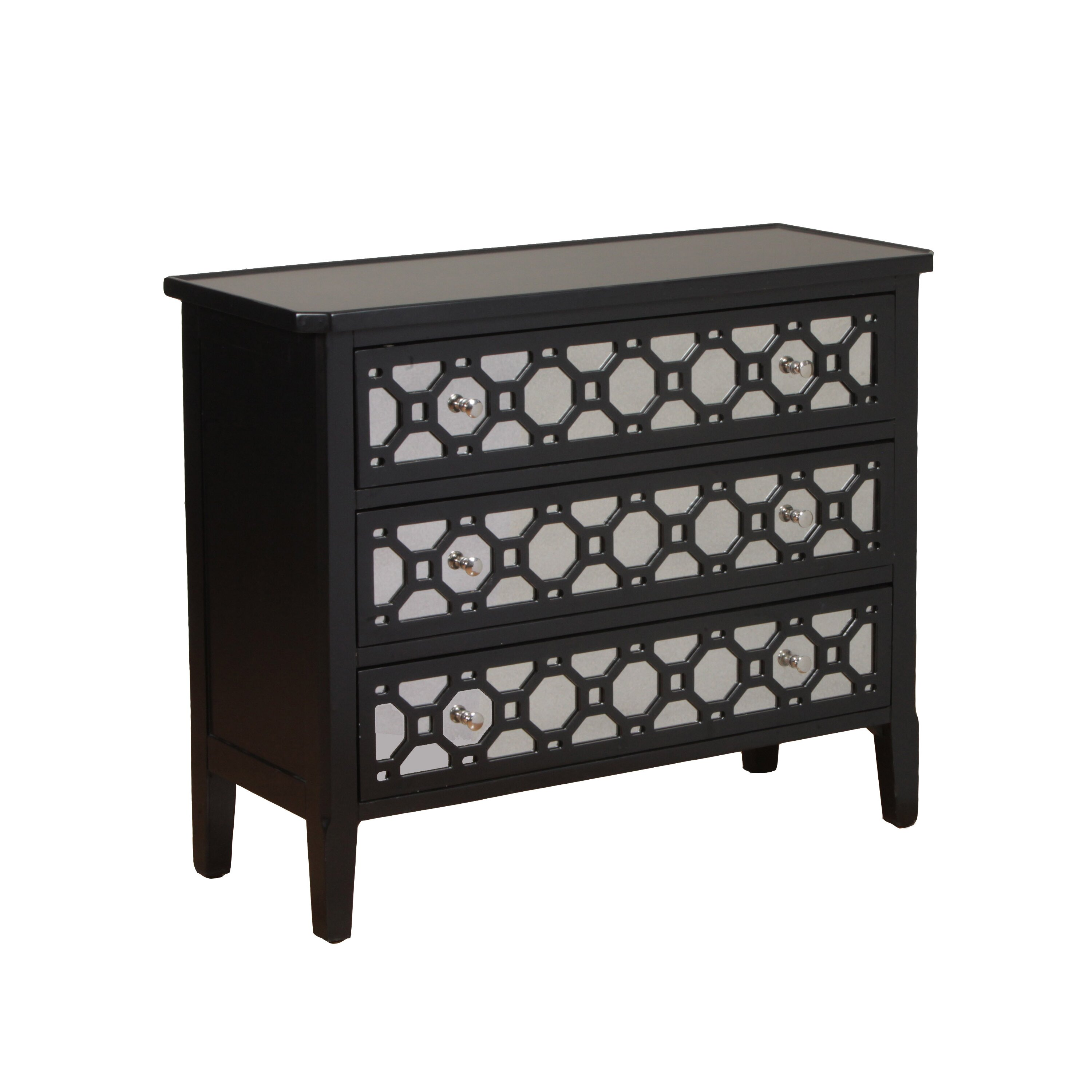 Powell 3 Drawer Mirror Console & Reviews