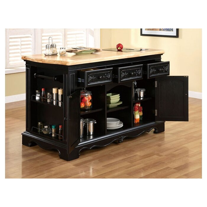 Darby Home Co Hofmeister Kitchen Island With Granite Top Reviews Wayfair