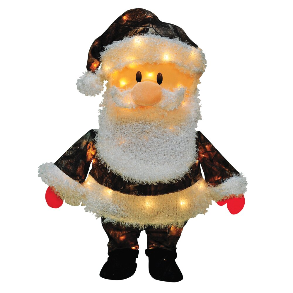 Santa Claus Lawn Decorations: Product Works Candy Lane Santa Claus In Camo Yard Art