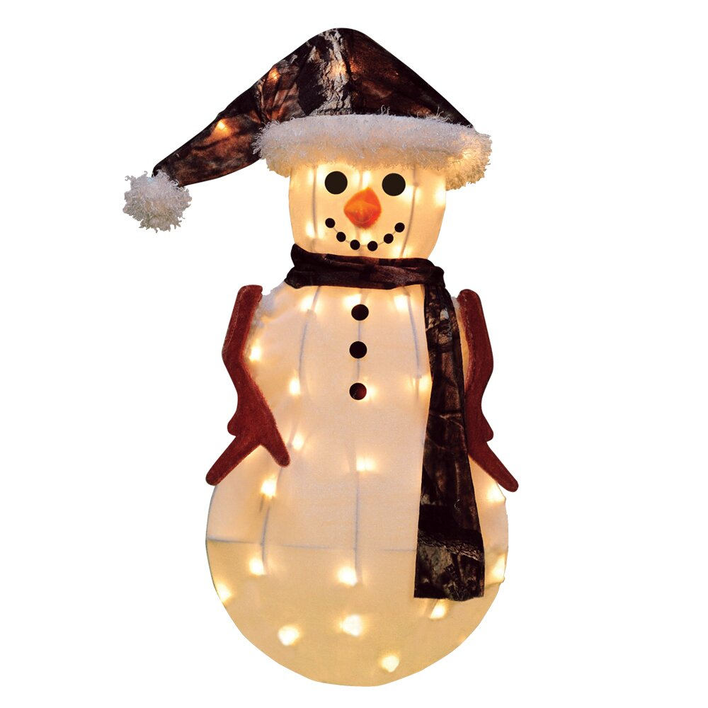 Product Works Candy Lane Snowman In Camo Christmas