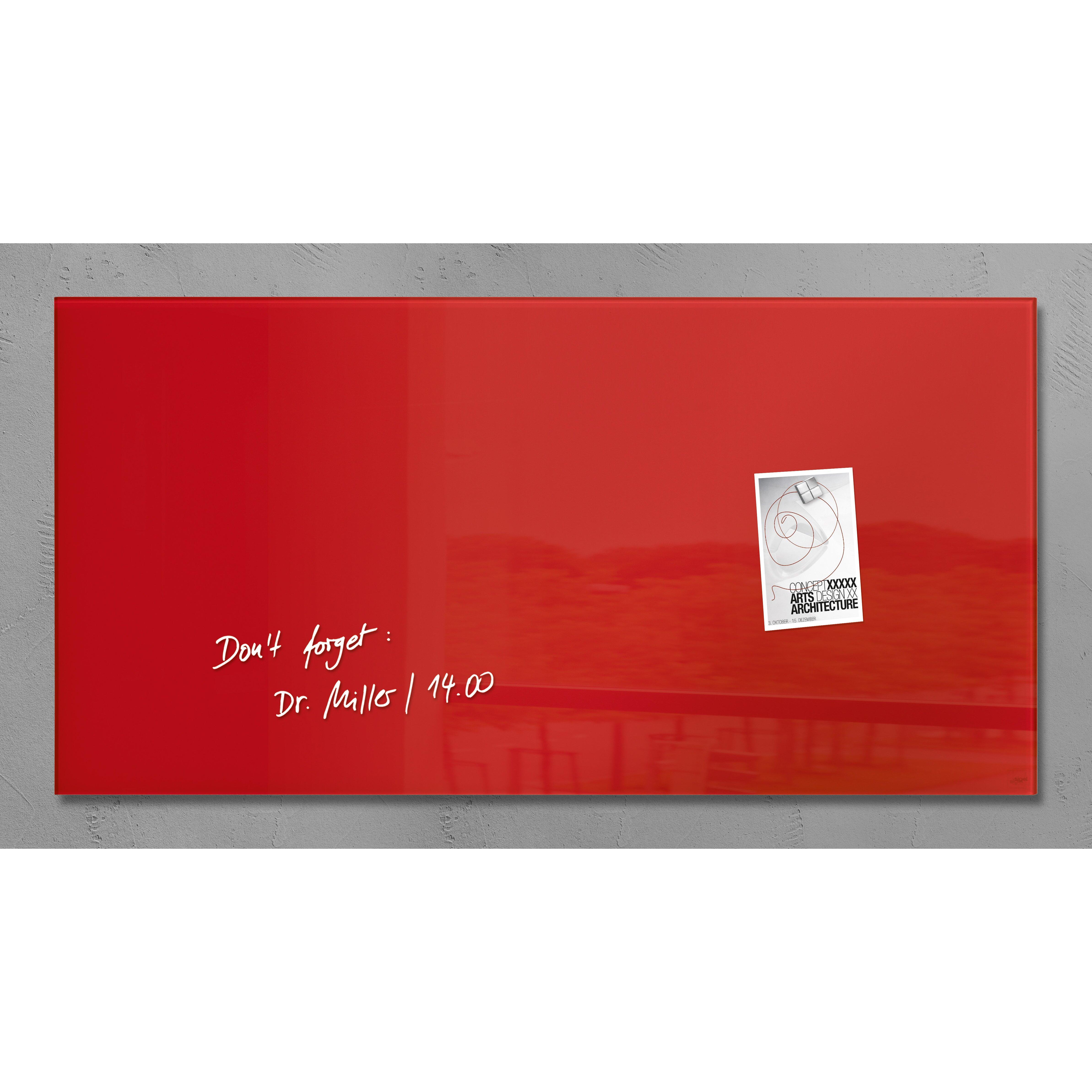 bindertek sigel magnetic glass memo board reviews wayfair. Black Bedroom Furniture Sets. Home Design Ideas