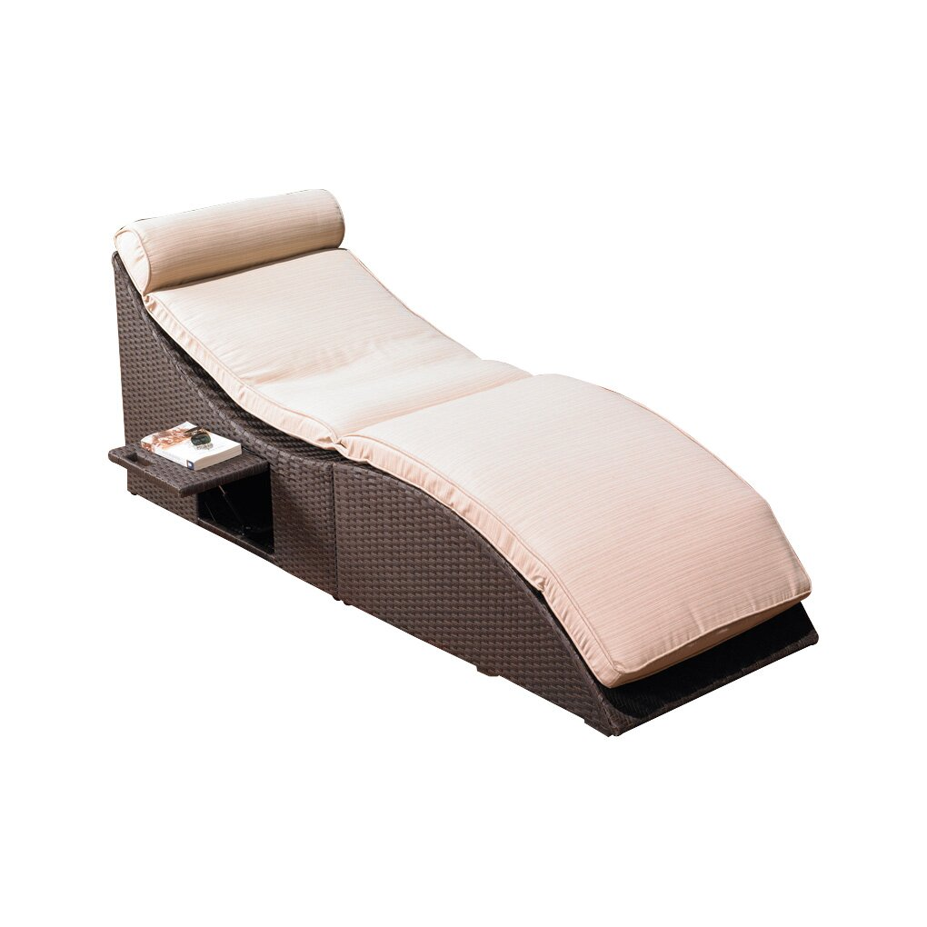 Mission hills st lucia chaise lounge with cushion for 2 chaise lounges