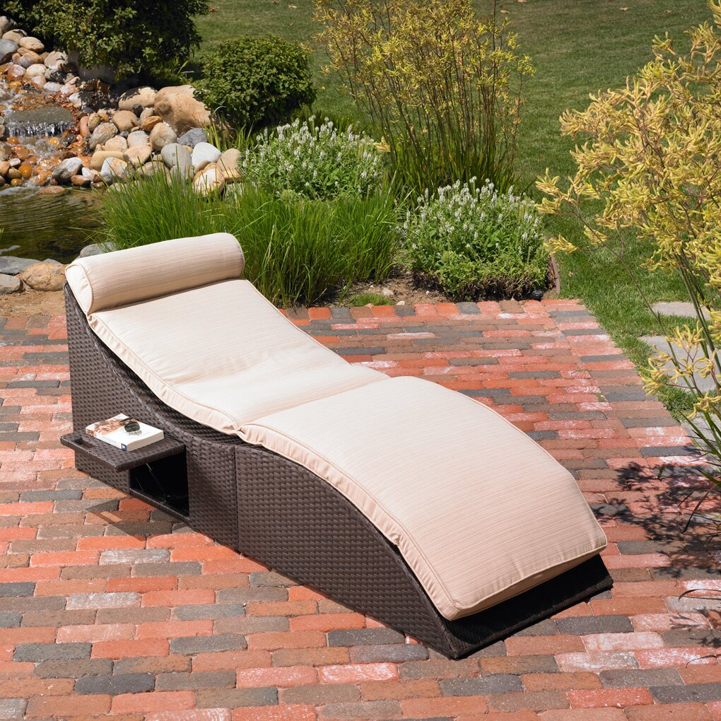 Mission Hills St Lucia Chaise Lounge with Cushion & Reviews