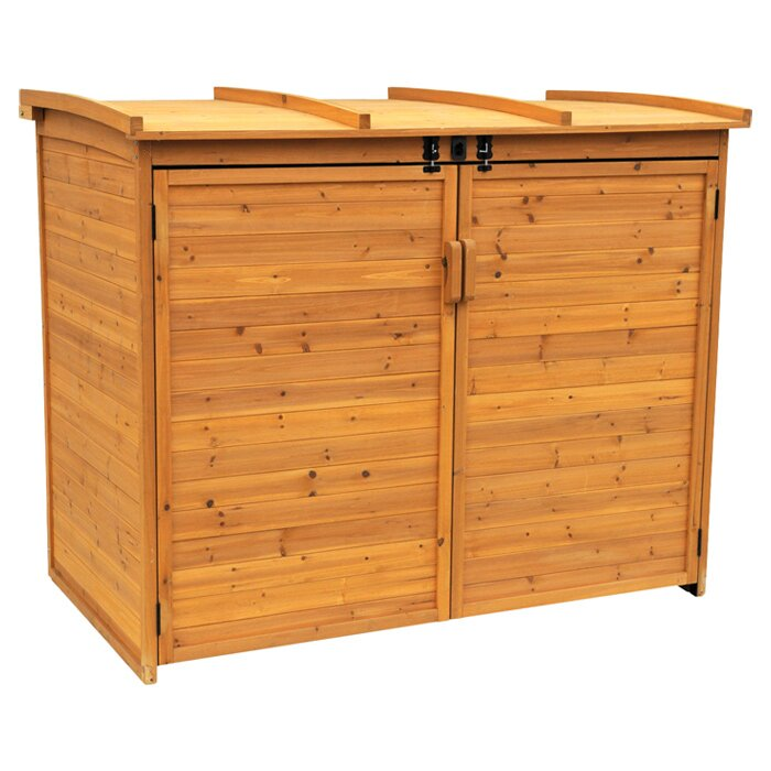 Leisure season horizontal refuge 5 5 ft w x 3 ft d wood for Horizontal storage shed