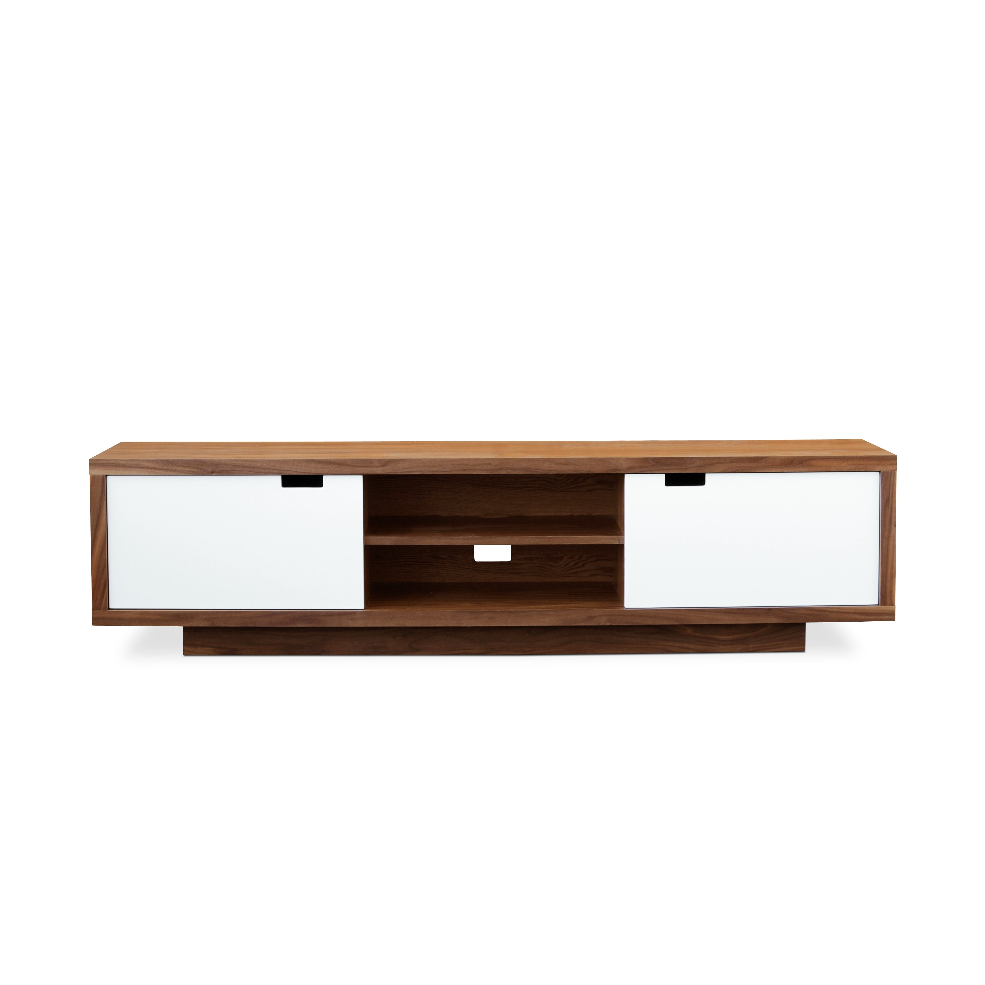 Gus modern wilson tv stand reviews wayfair for Table tv moderne