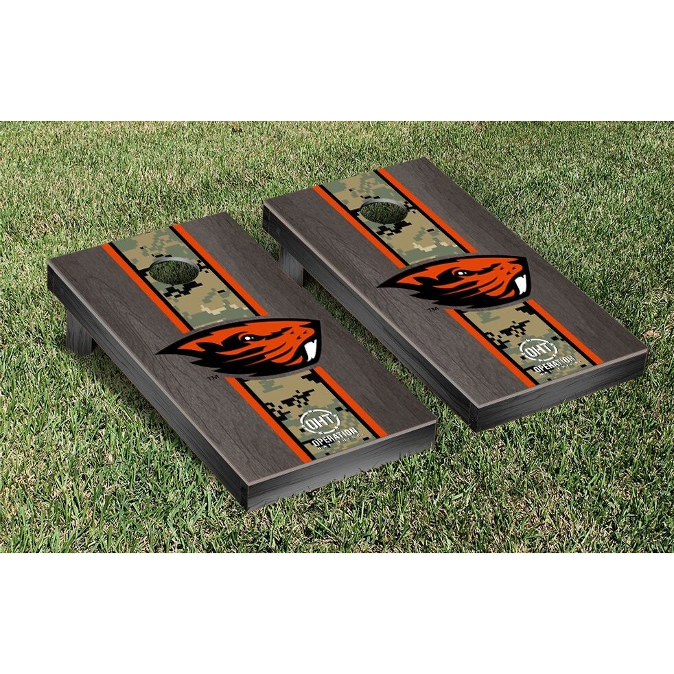Victory Tailgate Stained Stripe Version Cornhole Game Set