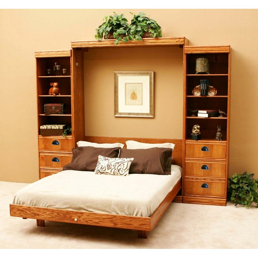 Wallbeds contemporary oak murphy bed reviews wayfair Modern murphy bed