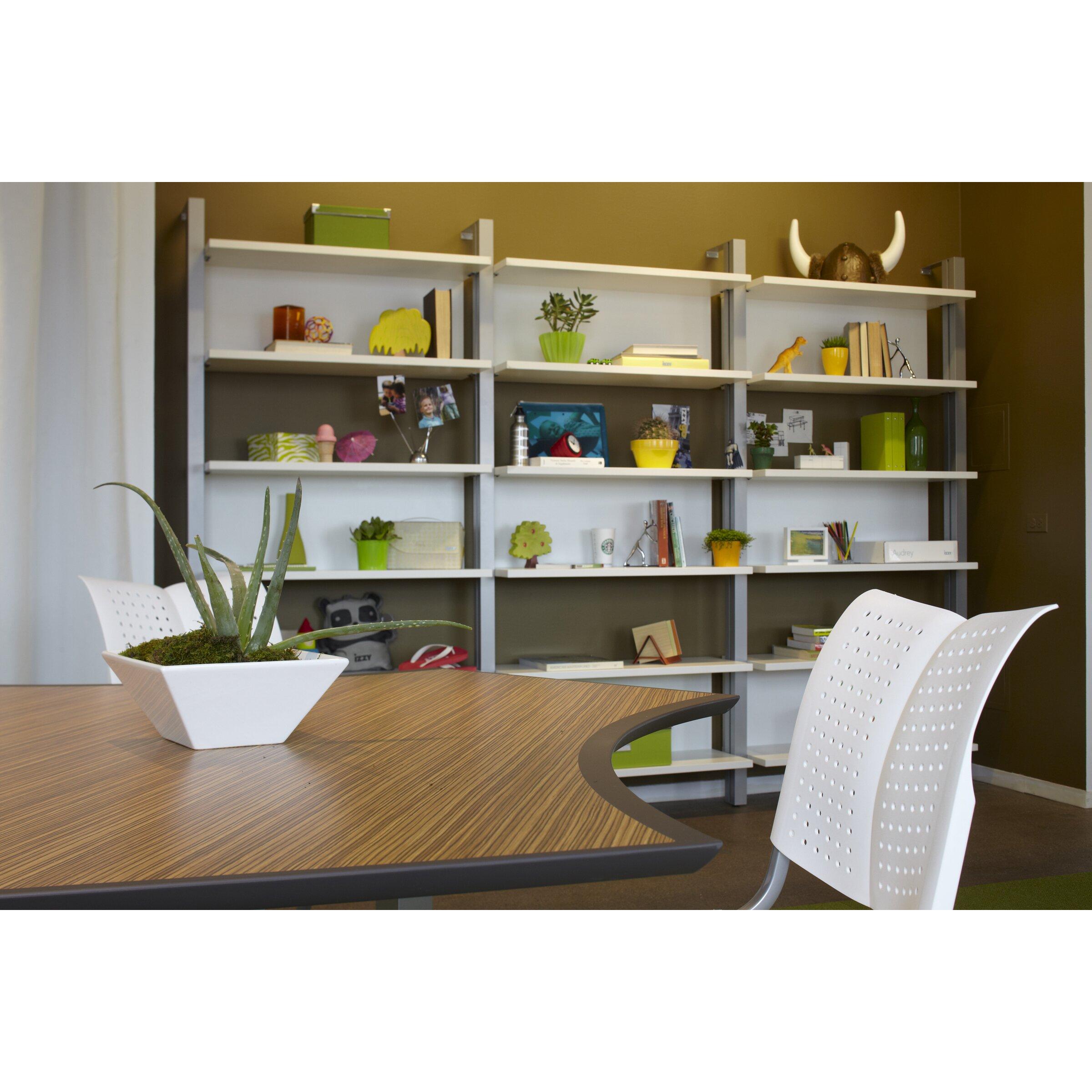 izzy design dewey 81 oversized set bookcase wayfair. Black Bedroom Furniture Sets. Home Design Ideas