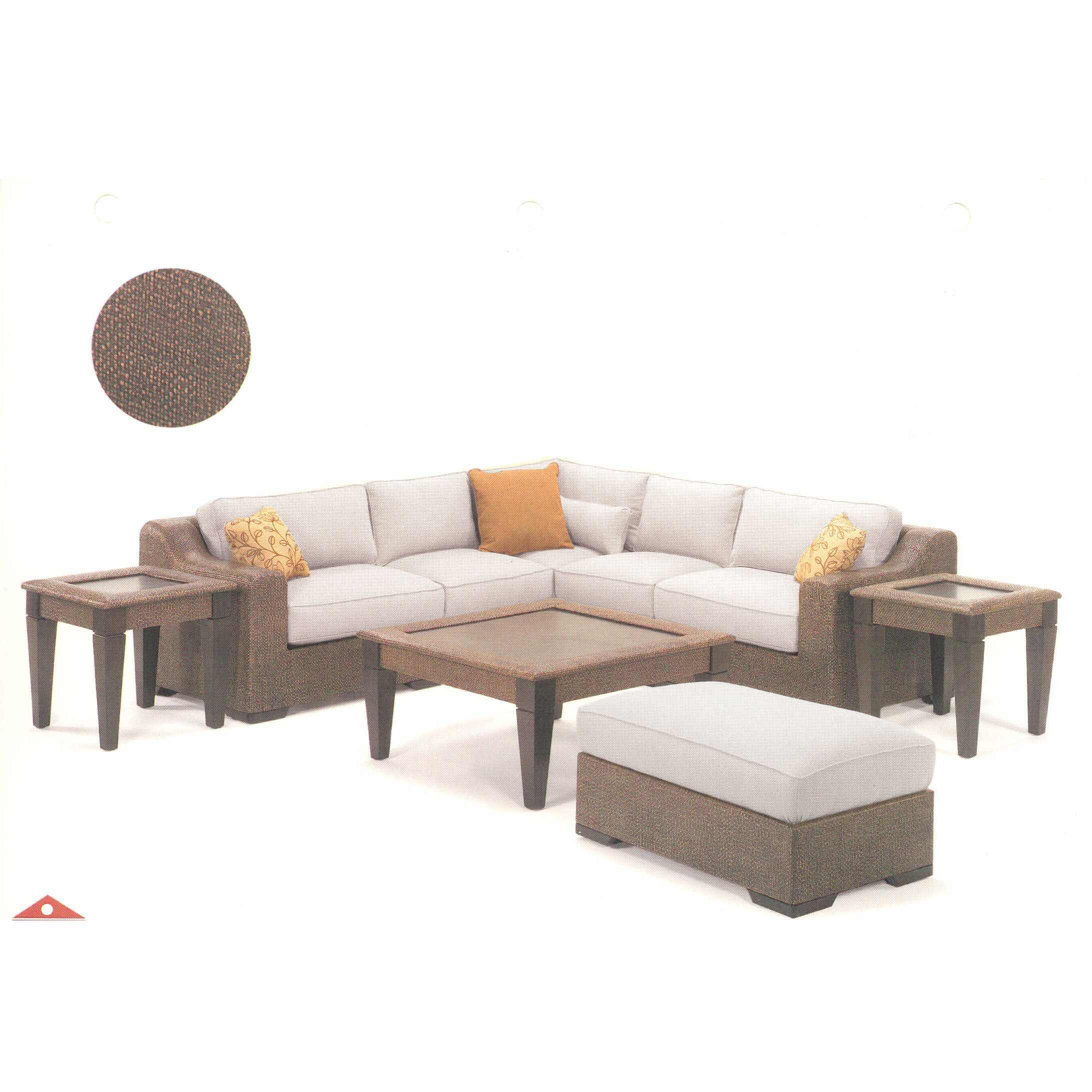 Acacia Home And Garden Bloomington Sectional Wayfair