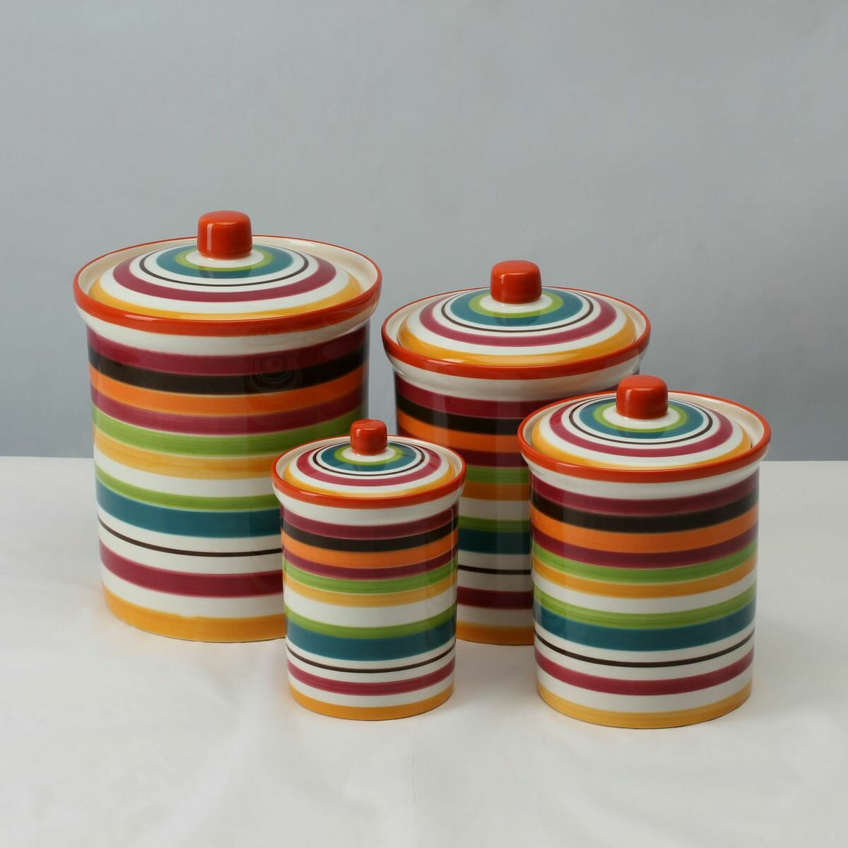 28 Colored Kitchen Canisters Colored Glass Kitchen Canisters Foter Bianca Bead 3 Piece
