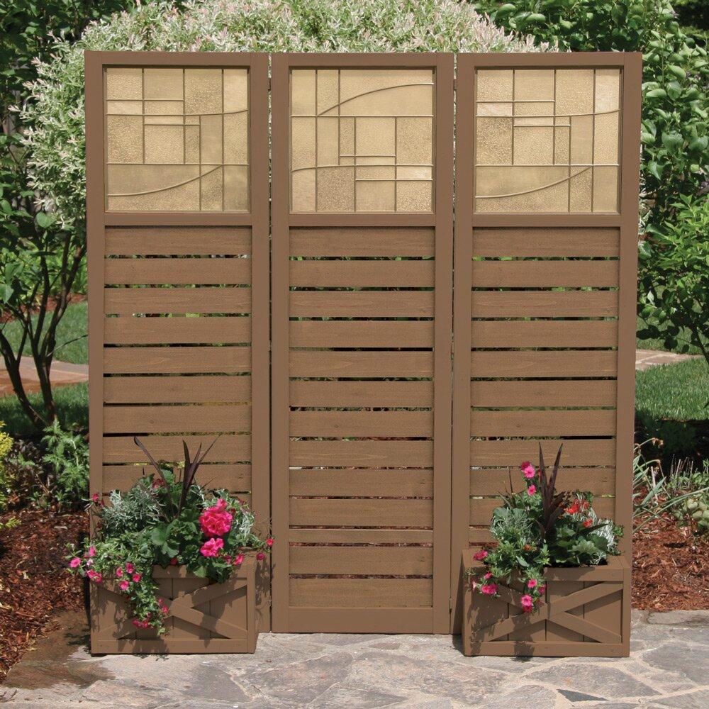 Yardistry garden screen with planter boxes reviews wayfair for Outdoor planter screen