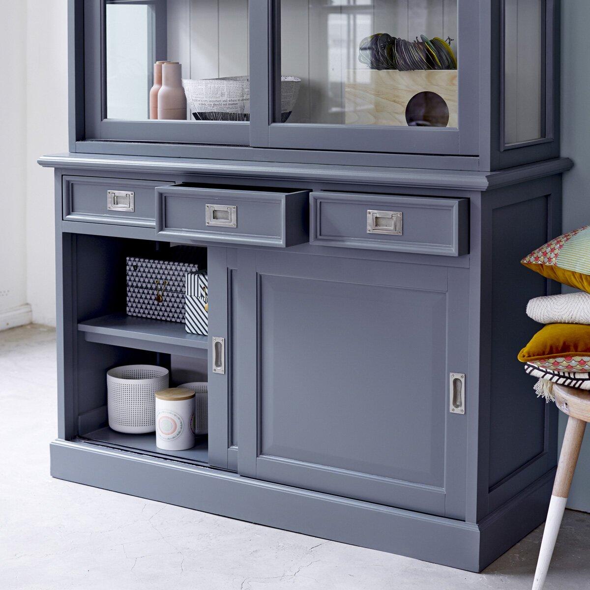Kitchen Cabinet Displays: Tikamoon Roma Mahogany Display Cabinet & Reviews