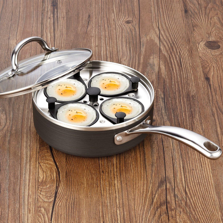 Cooks standard 4 cup nonstick egg poacher with lid for Decor 4 egg poacher