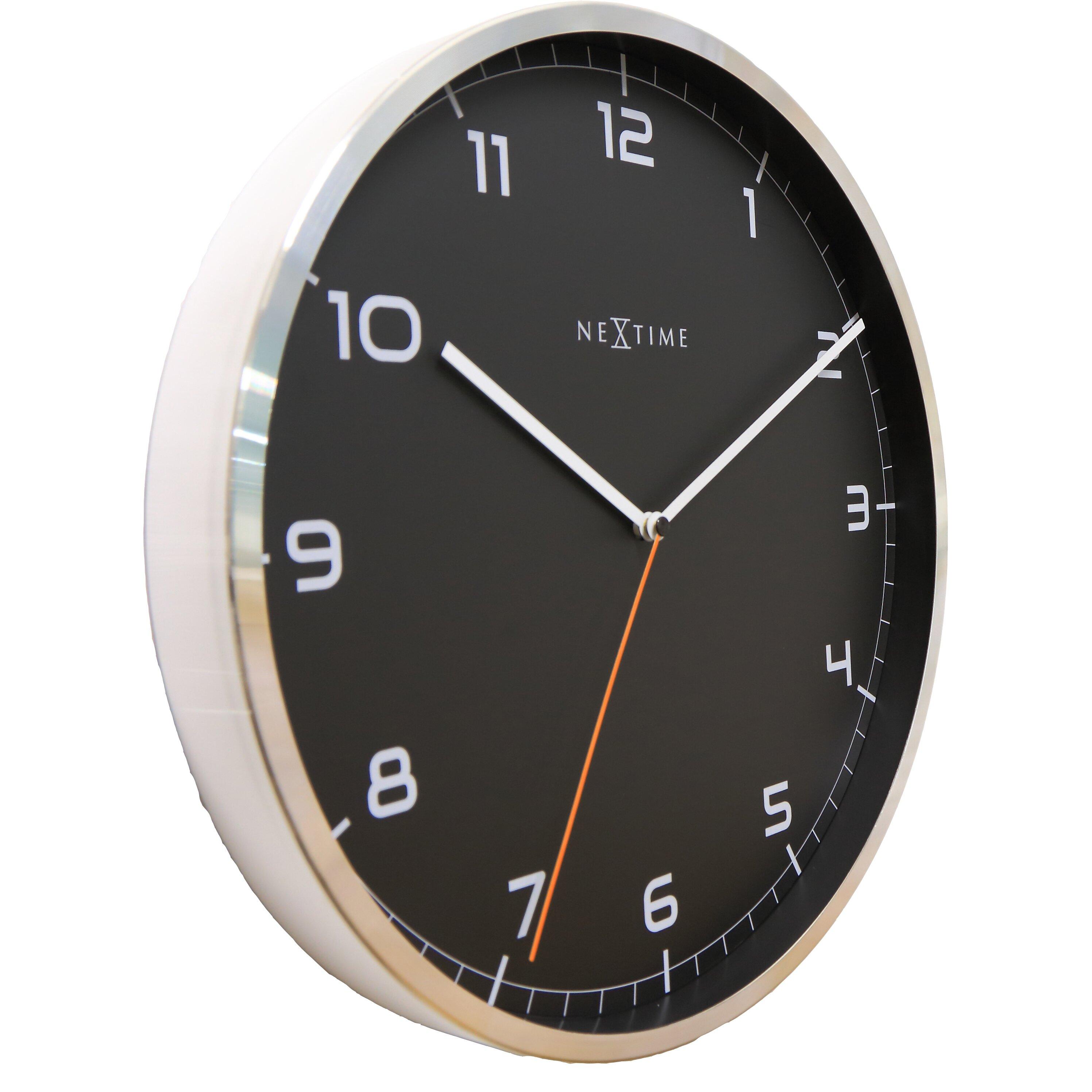 Nextime Company 35 Cm Arabic Numbers Wall Clock Wayfair Uk