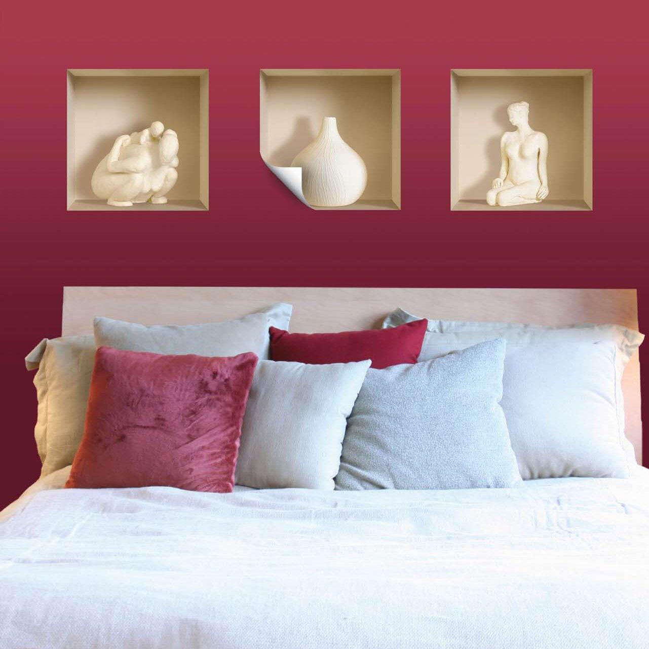 Nisha 3d effect ceramic figure wall mural reviews wayfair for Ceramic wall mural