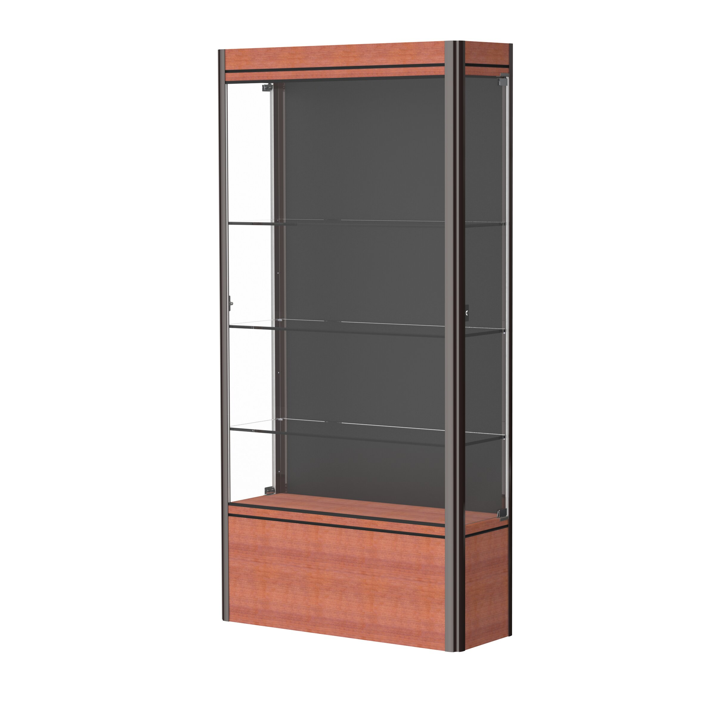 waddell contempo series lighted floor display case wayfair. Black Bedroom Furniture Sets. Home Design Ideas