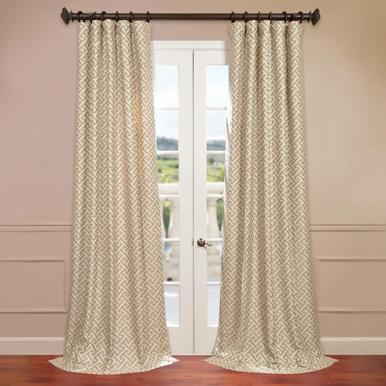 Half Price Drapes Zeus Jacquard Semi Single Curtain Panel