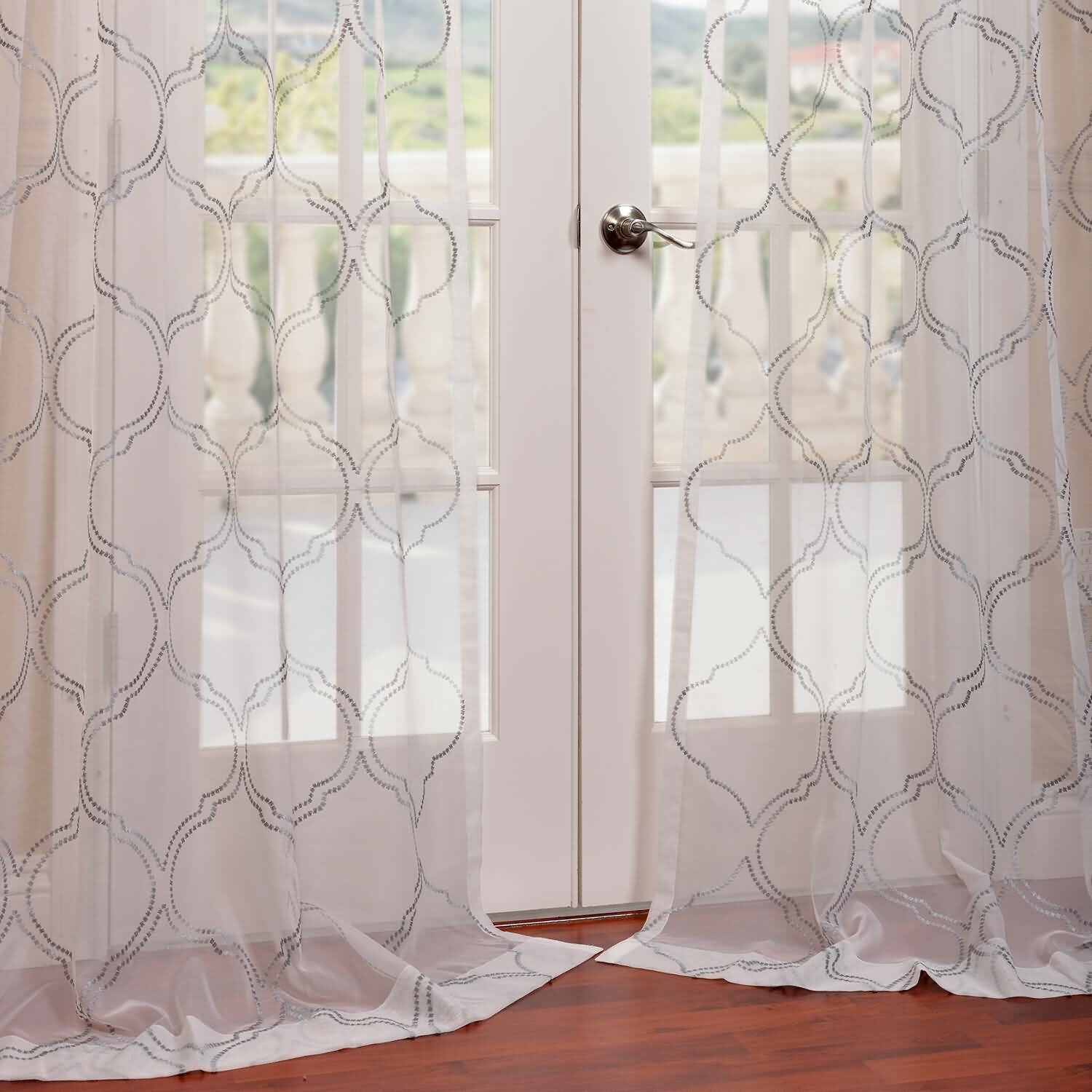 Half Price Drapes Florentina Embroidered Sheer Single Curtain Panel Reviews Wayfair