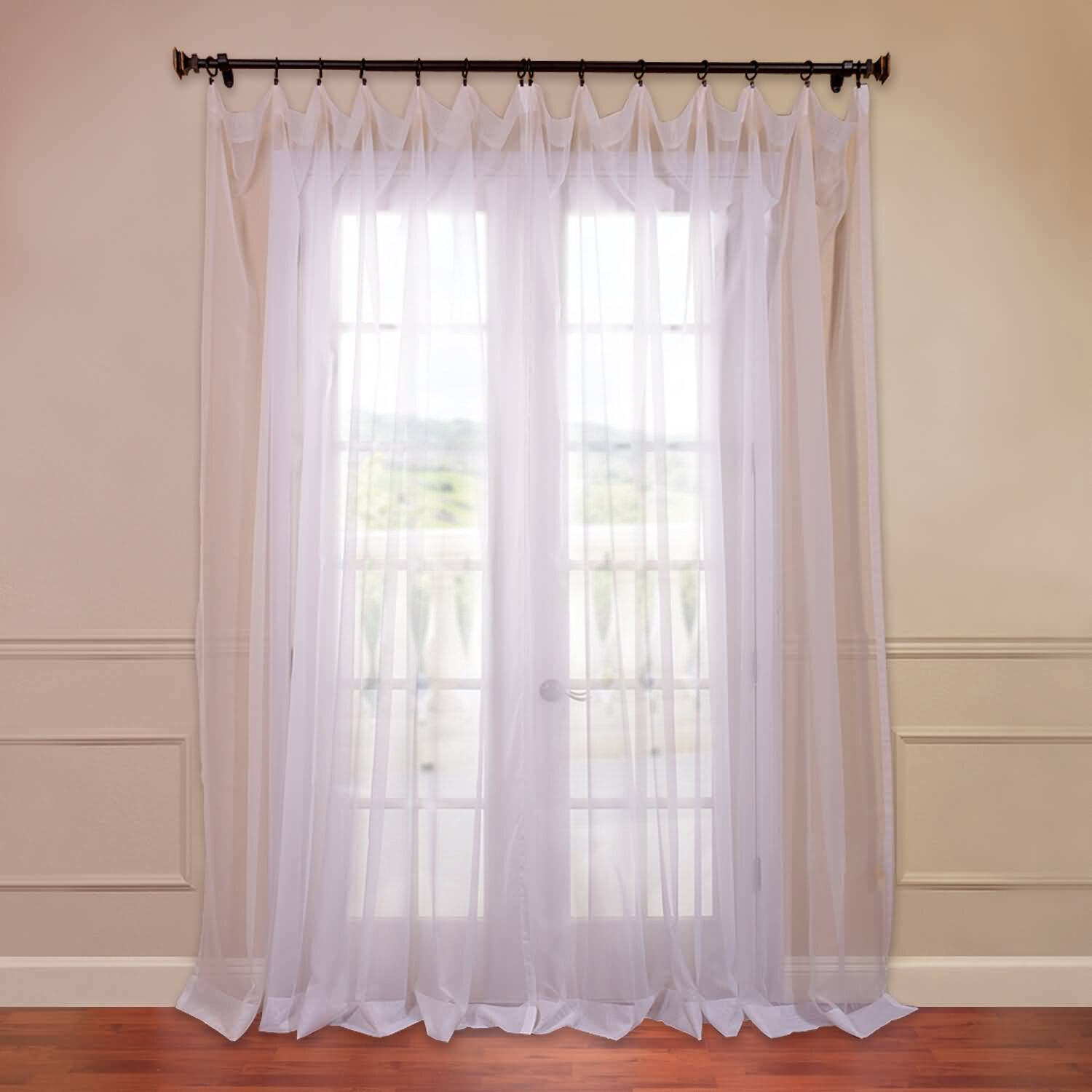 Half Price Drapes Doublewide Solid Voile Sheer Single