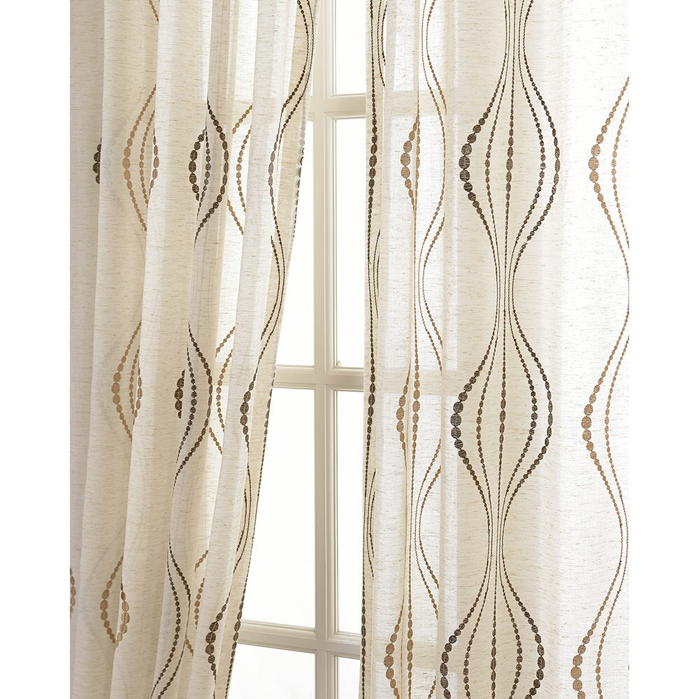 Half Price Drapes Suez Embroidered Sheer Single Curtain Panel Reviews Wayfair Supply