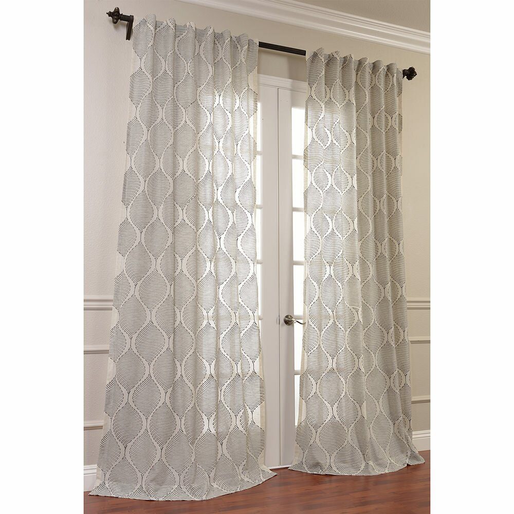 Half Price Drapes Dreamweaver Embroidered Sheer Single Curtain Panel Reviews Wayfair