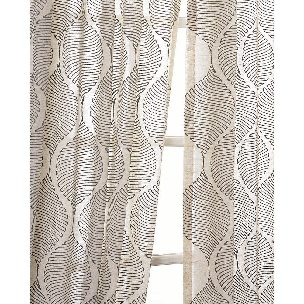 half price drapes dreamweaver embroidered sheer single