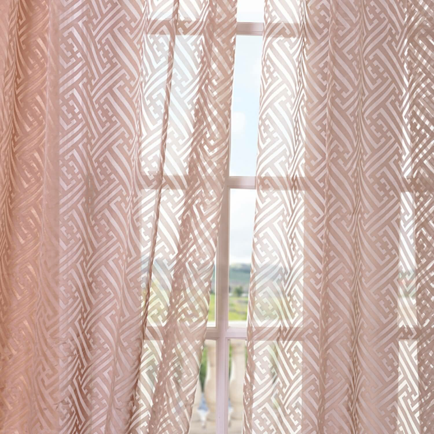 Half price drapes zara patterned sheer single curtain for Patterned curtains and drapes