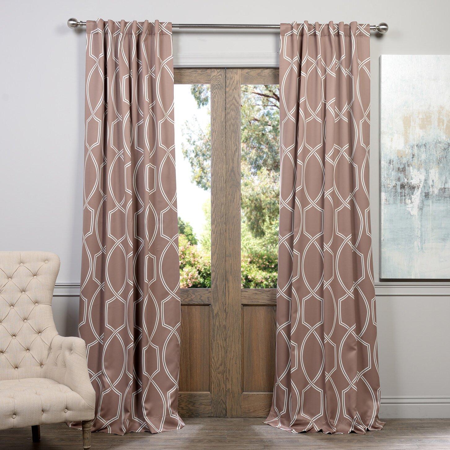 Halfpriced Drapes: Half Price Drapes Lisbon Blackout Single Curtain Panel