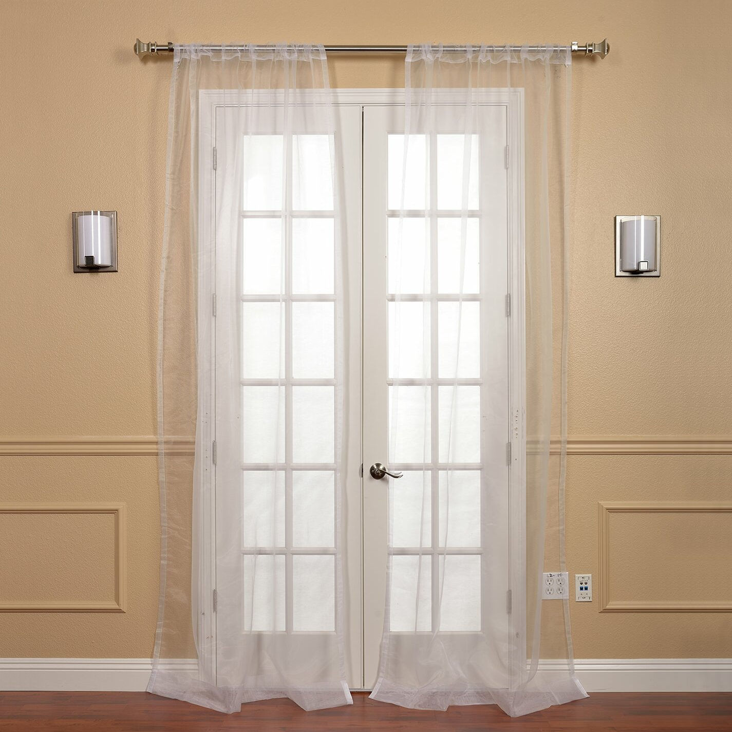 Half Price Drapes Faux Organza Sheer Curtain Panels Reviews Wayfair