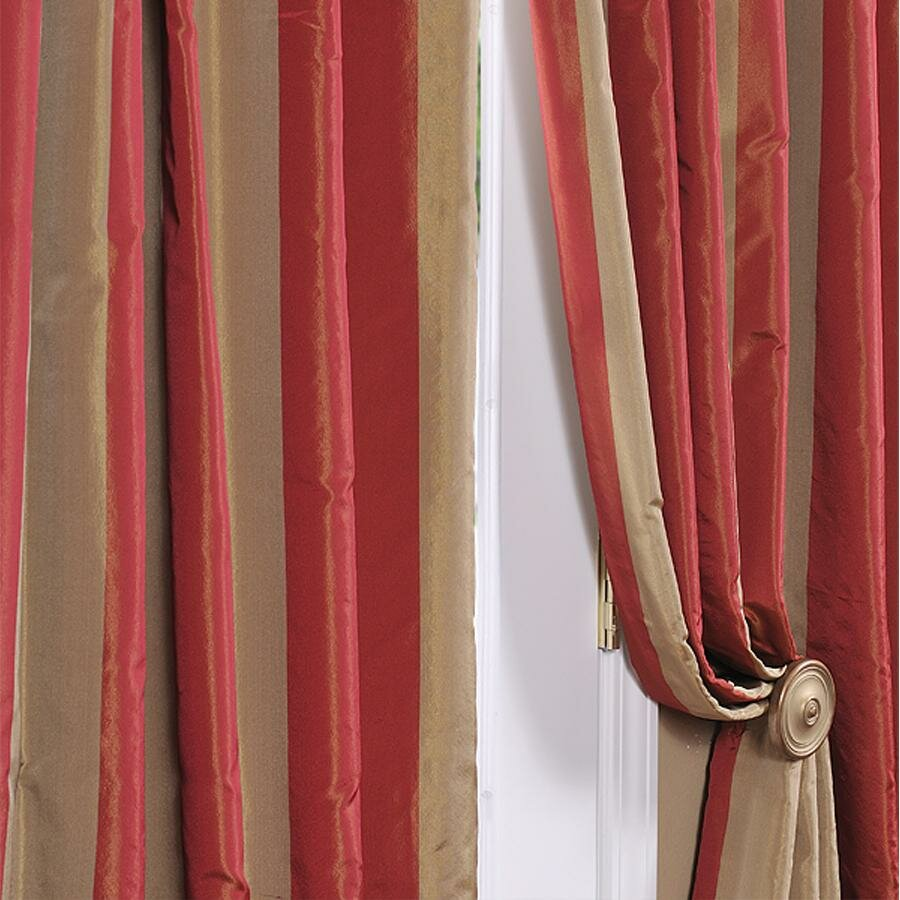 Half Price Drapes Rialto Faux Silk Taffeta Stripe Semi