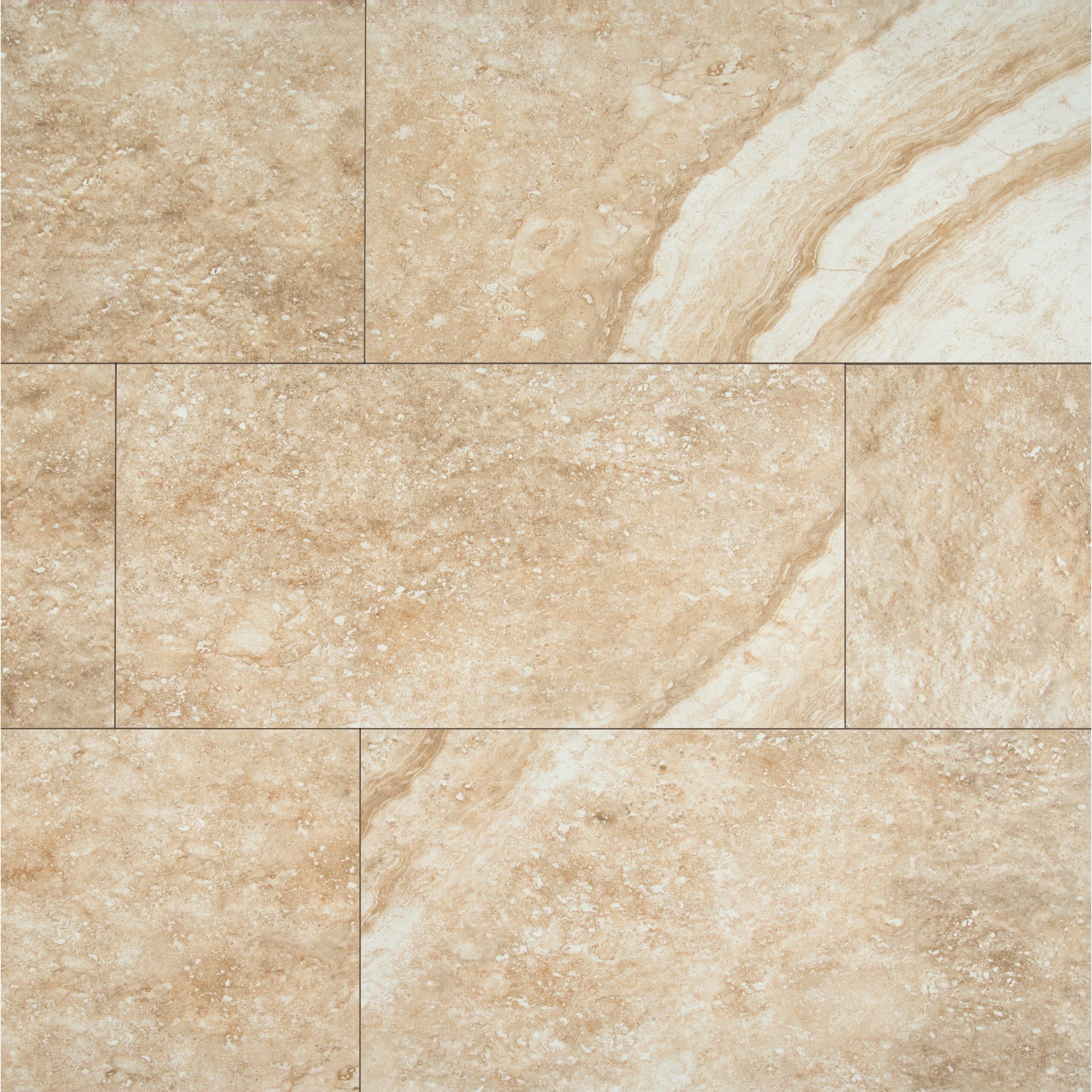 Msi aliso 12 x 24 ceramic subway tile in beige wayfair for 12 x 24 glass tile