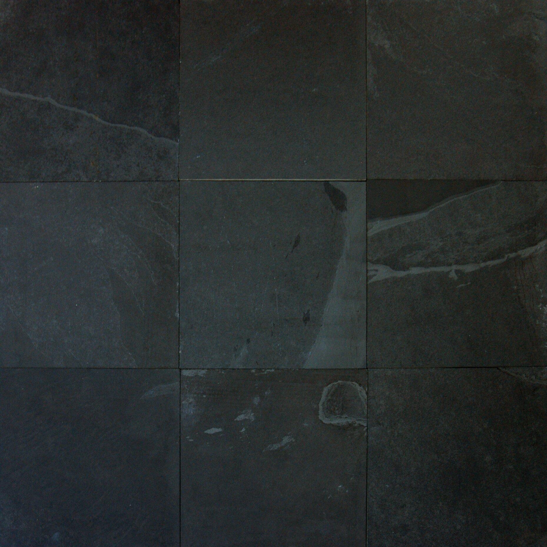 Msi Montauk 16 39 39 X 16 39 39 Slate Field Tile In Black