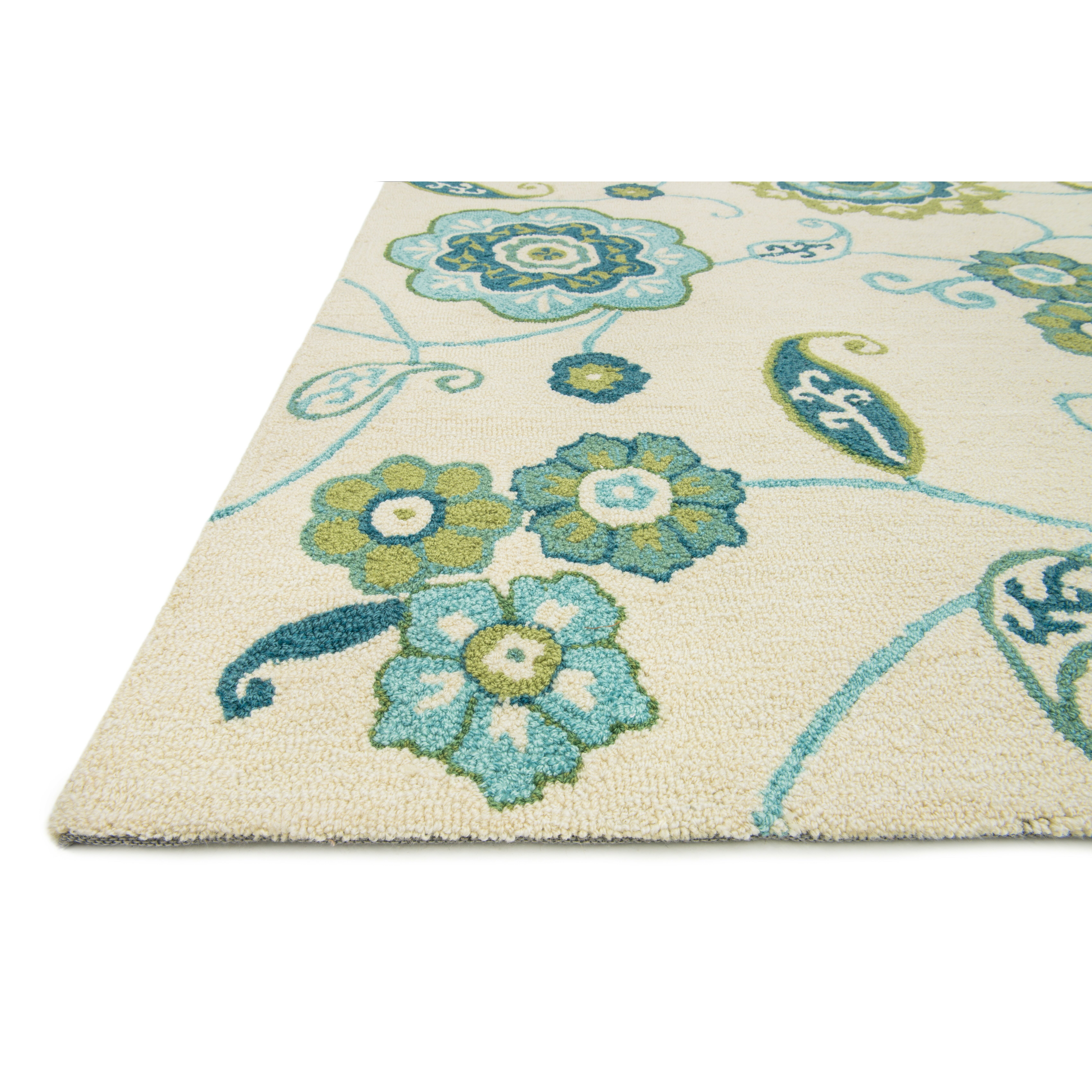 Loloi Rugs Summerton Ivory & Aqua Rug & Reviews