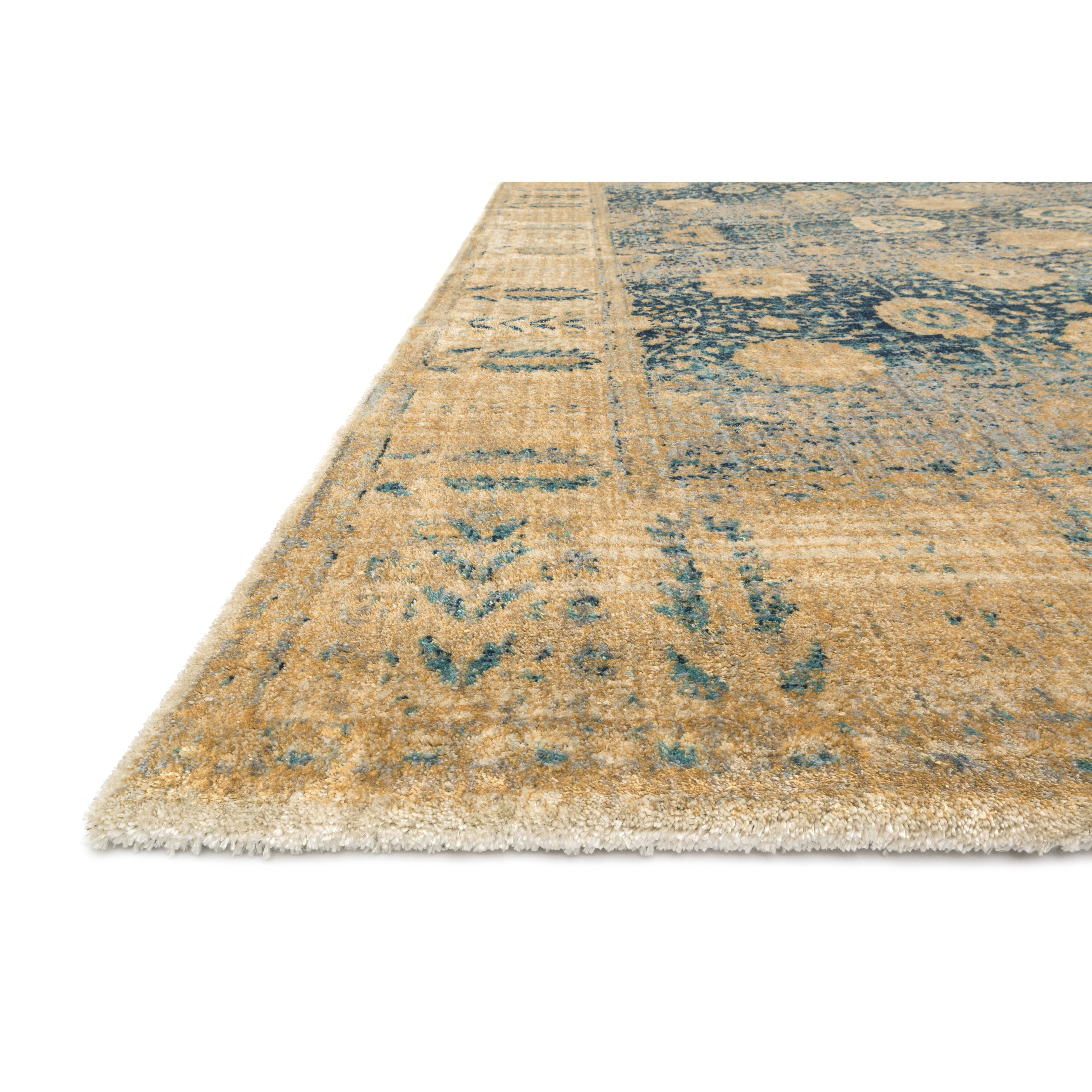 Rug Runner Gold: Loloi Rugs Anastasia Blue/Gold Area Rug & Reviews