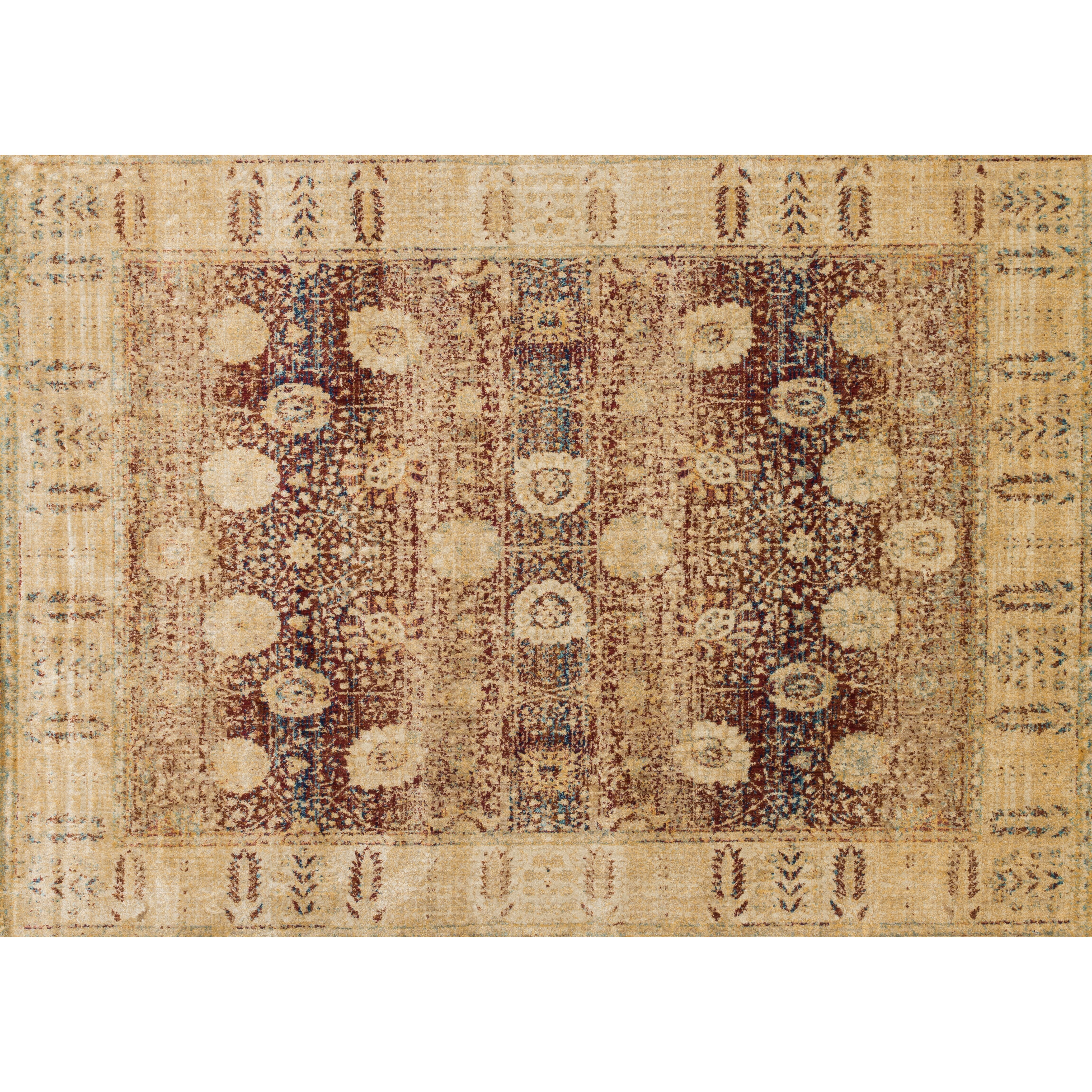 Loloi rugs anastasia red gold area rug reviews wayfair for Red and gold area rugs