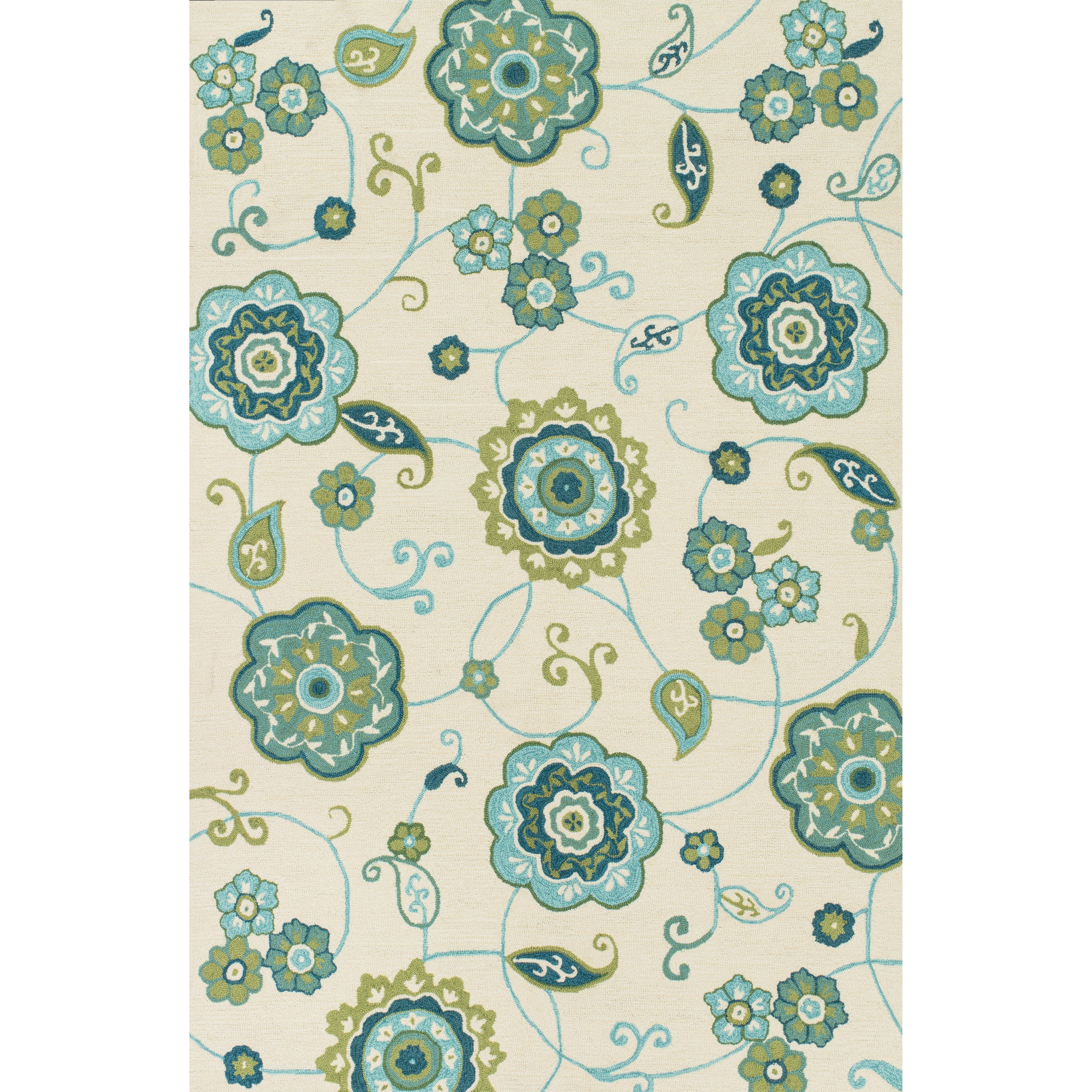 Loloi Rugs Summerton Ivory Amp Aqua Rug Amp Reviews Wayfair