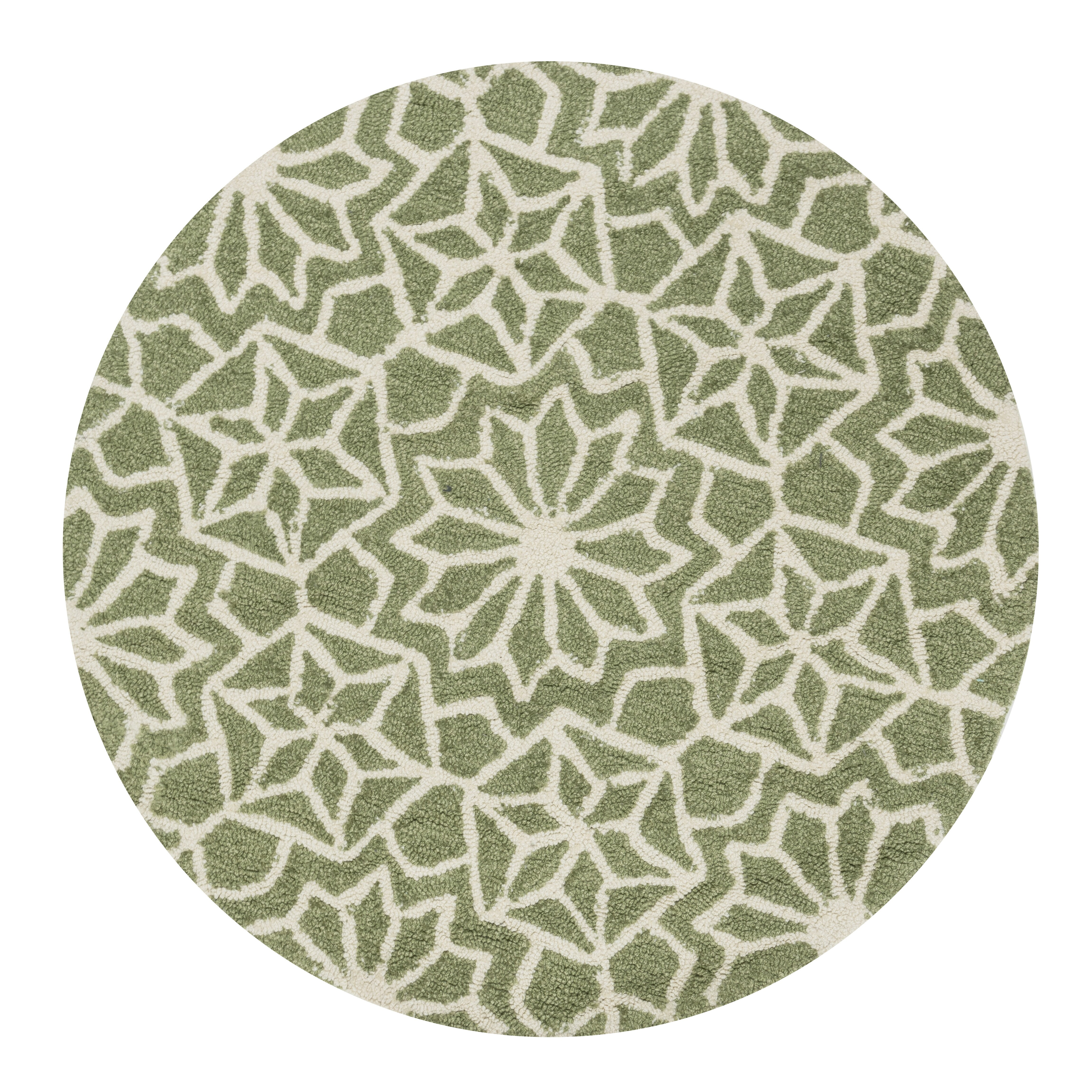 Loloi Rugs Francesca Hand-Woven Green Floral Area Rug