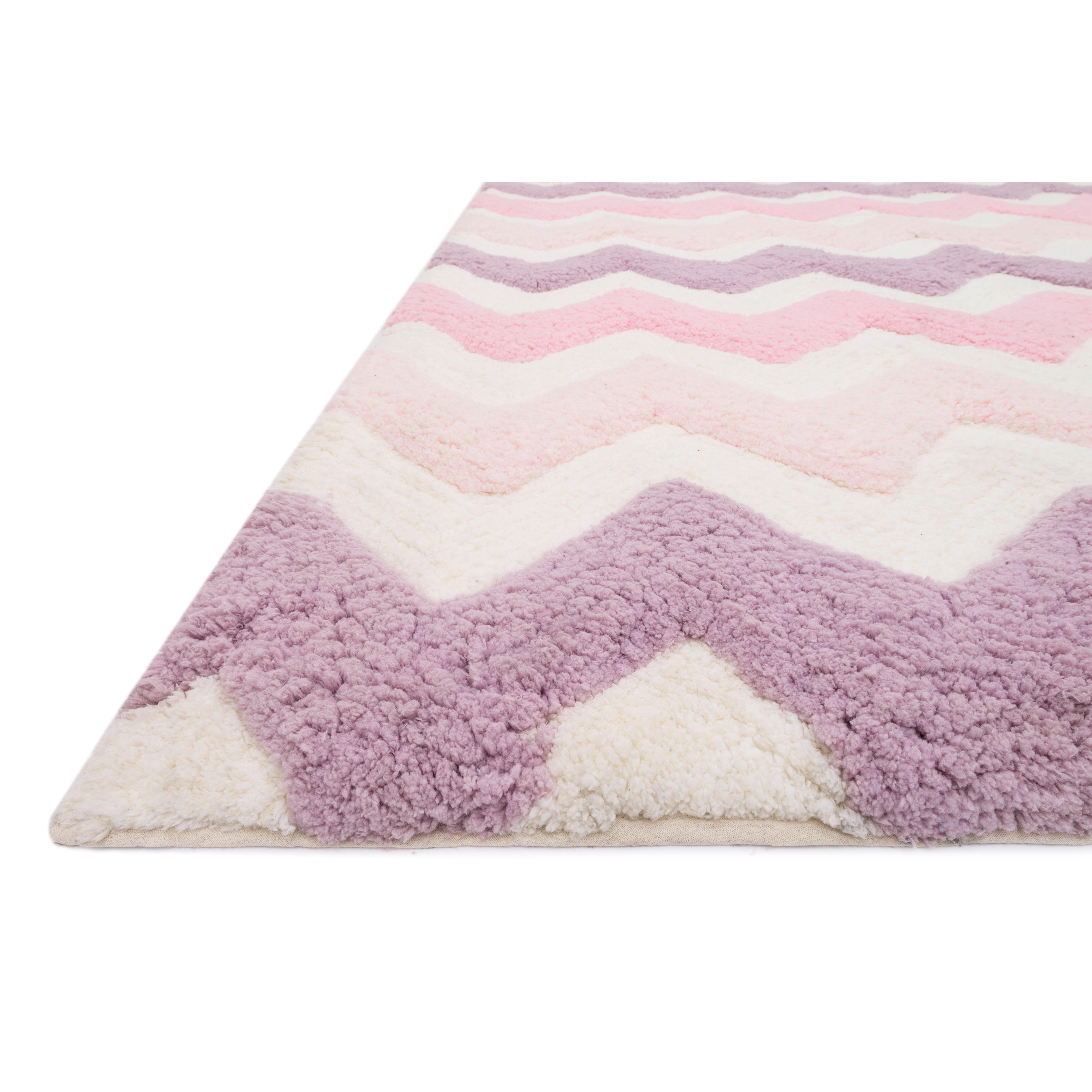 Loloi Rugs Lola Handmade Pink Purple Shag Area Rug