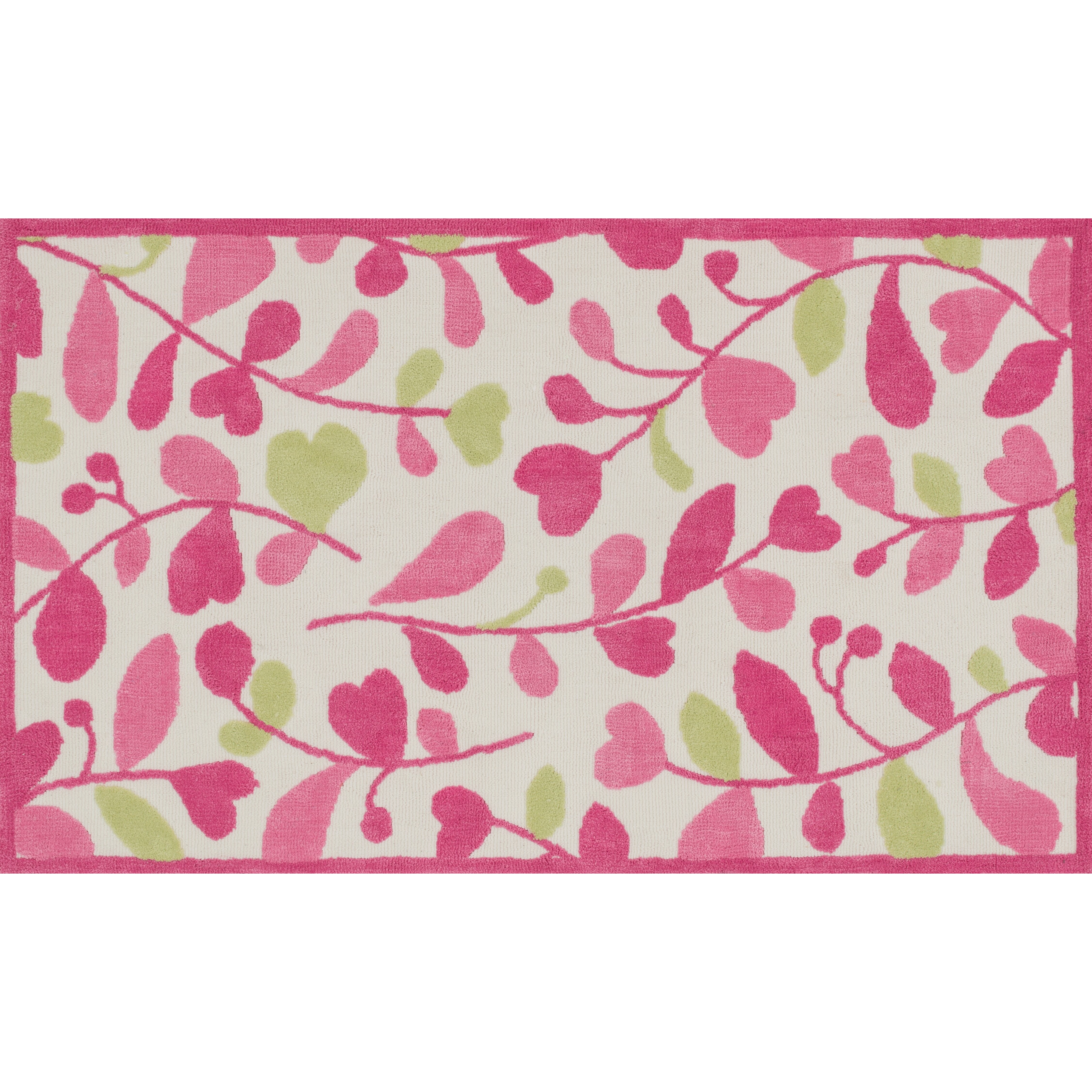 Loloi Rugs Zoey Pink/Green Area Rug & Reviews