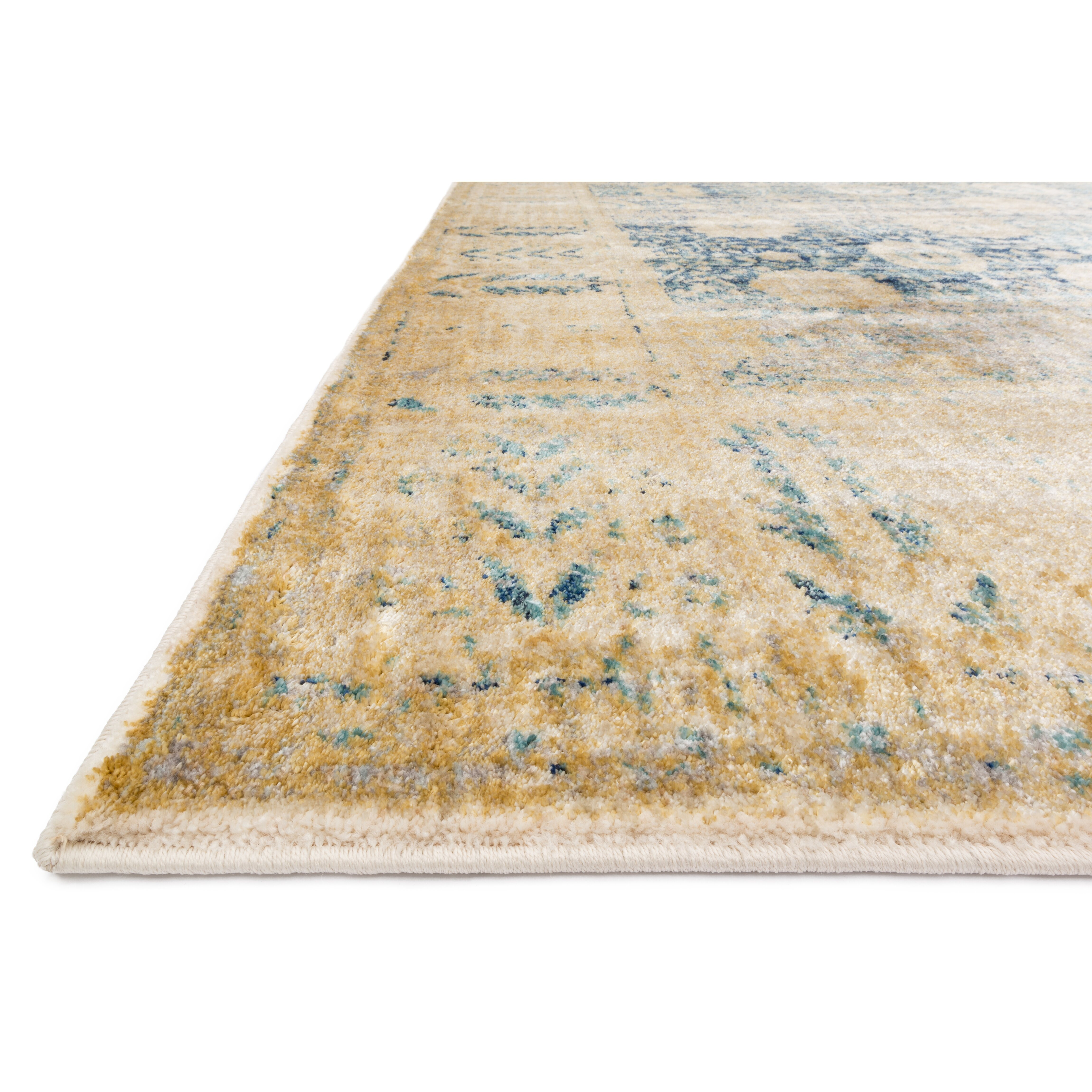 Loloi rugs anastasia blue gold area rug reviews wayfair for Carpets and area rugs