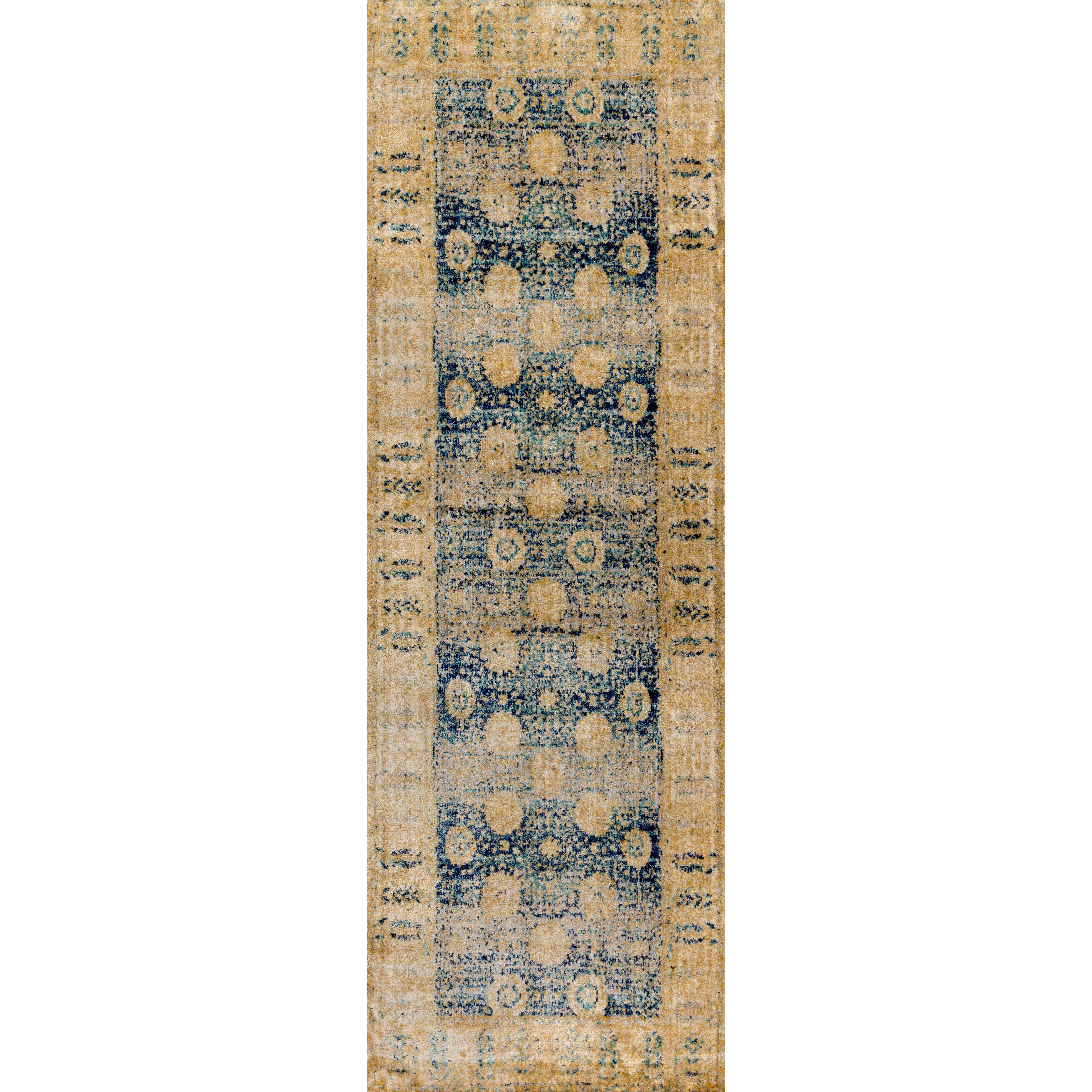 loloi rugs anastasia blue gold area rug reviews wayfair. Black Bedroom Furniture Sets. Home Design Ideas