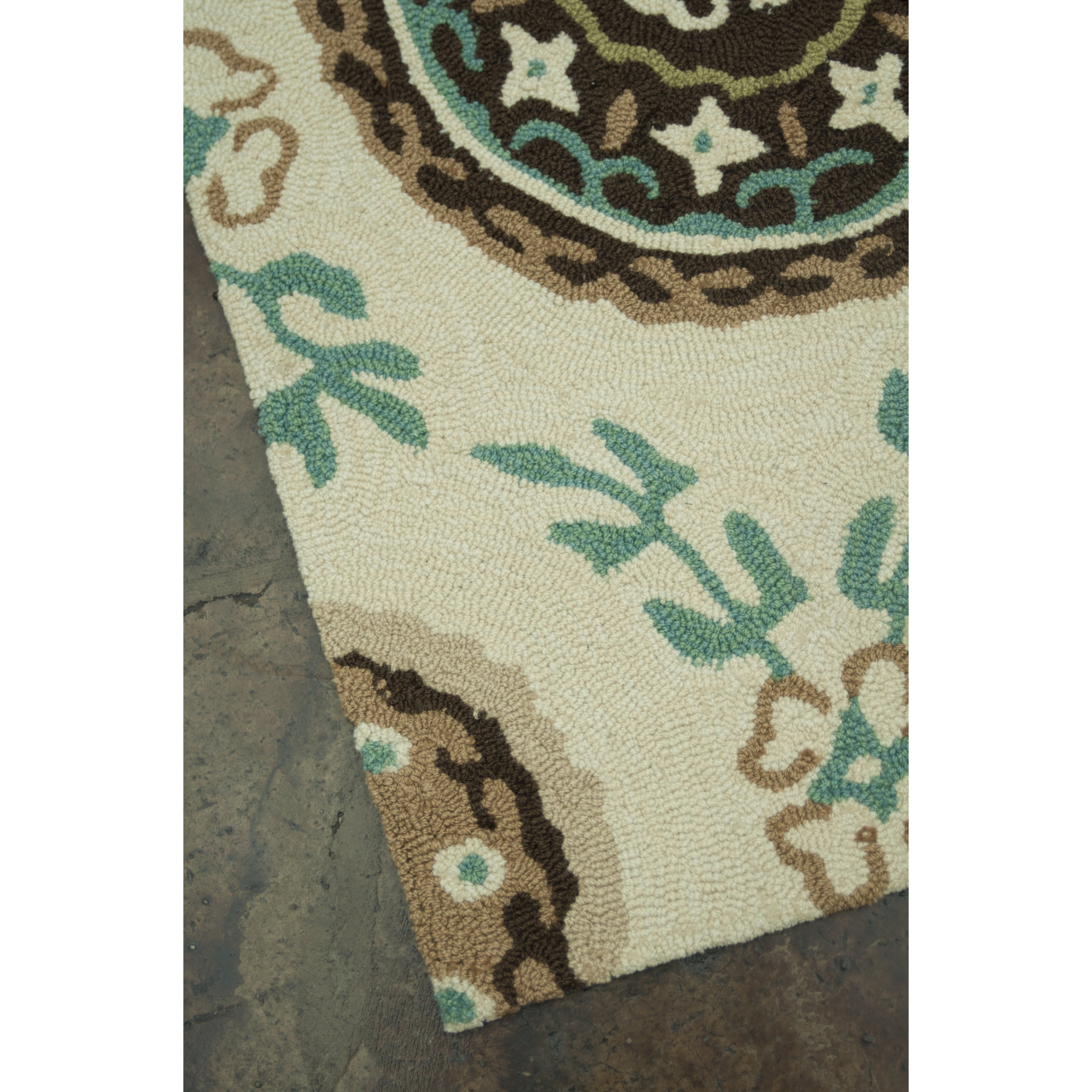 Loloi Rugs Summerton Ivory/Teal Rug & Reviews