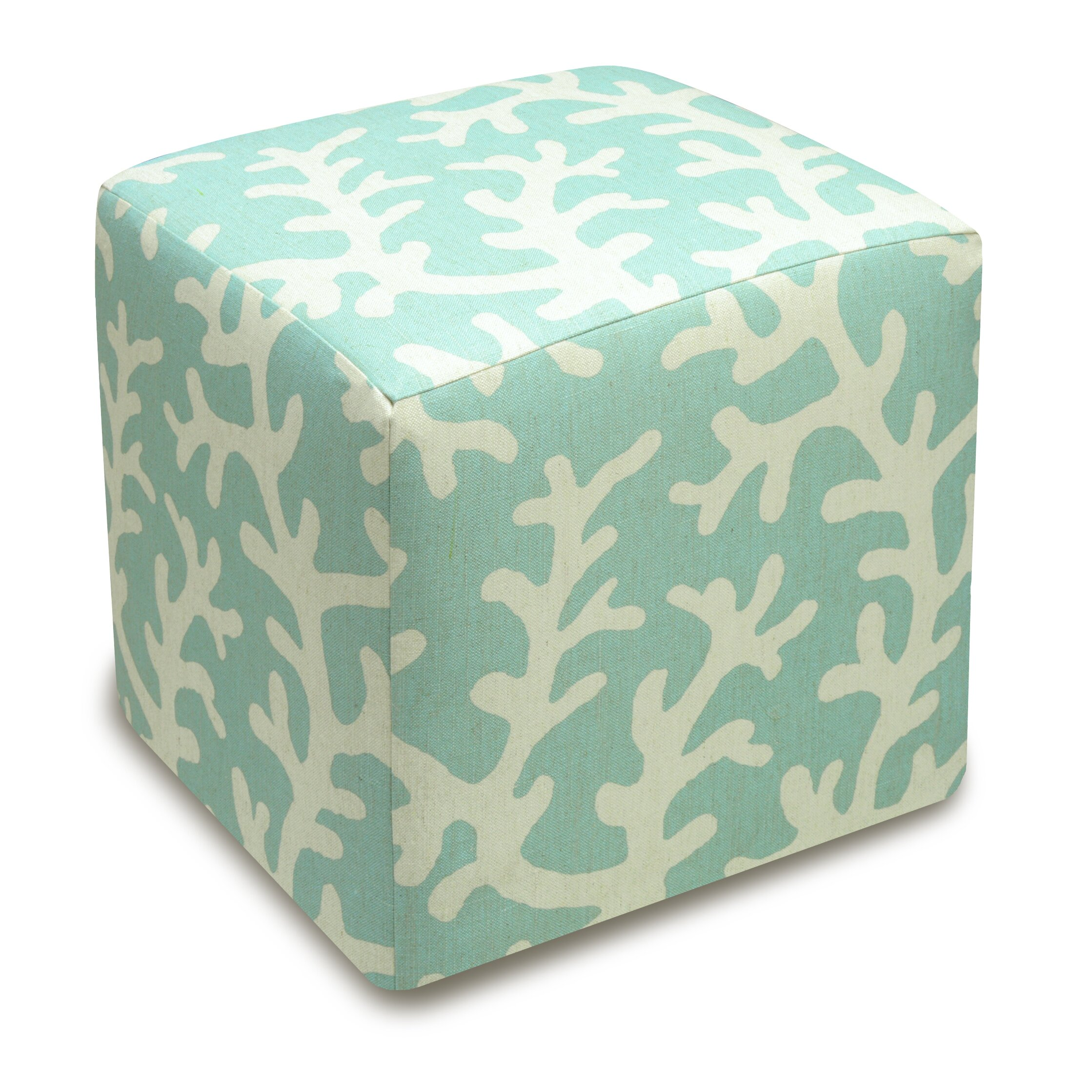 123 Creations Coral Upholstered Cube Ottoman Reviews