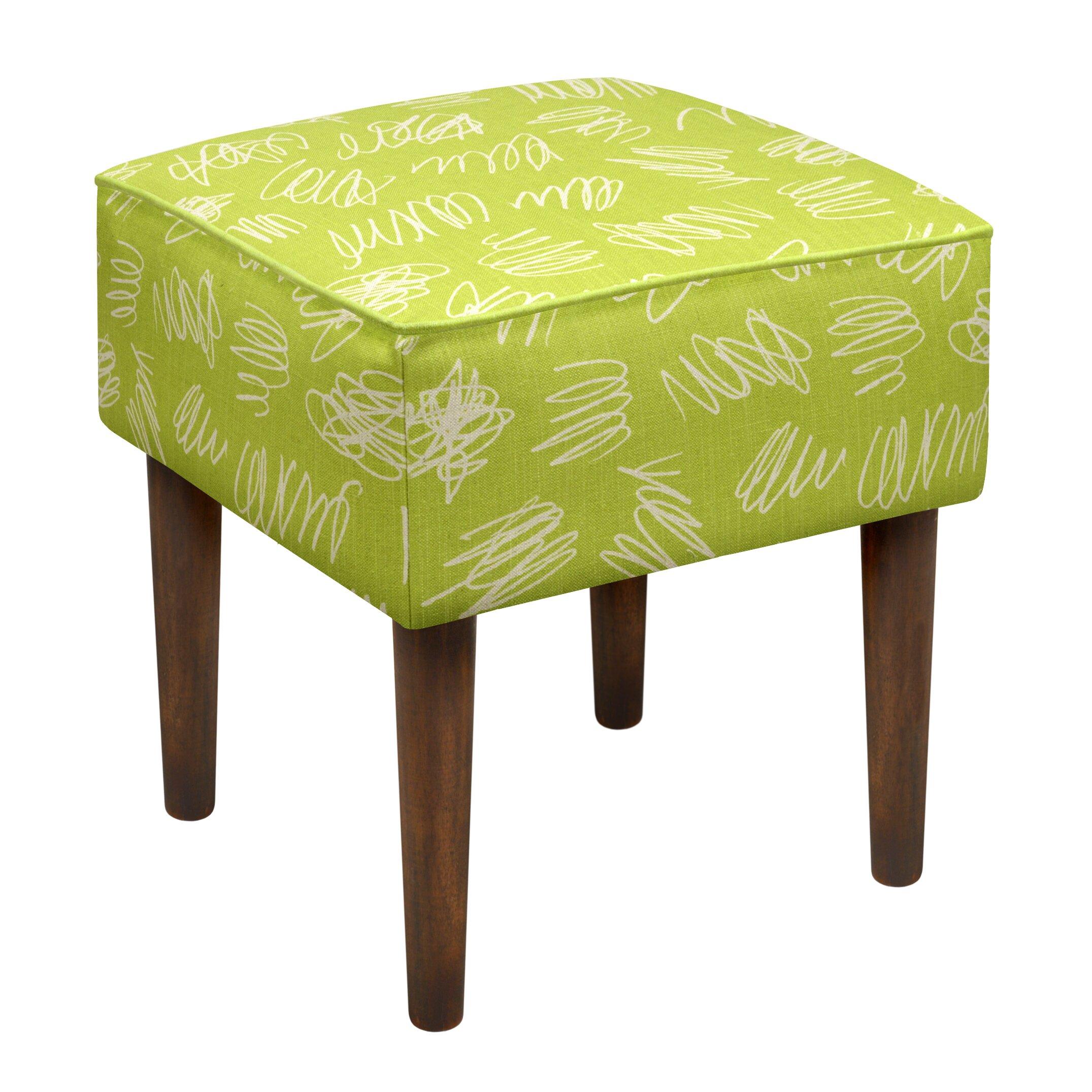 123 Creations Scribbles Upholstered Vanity Stool Wayfair