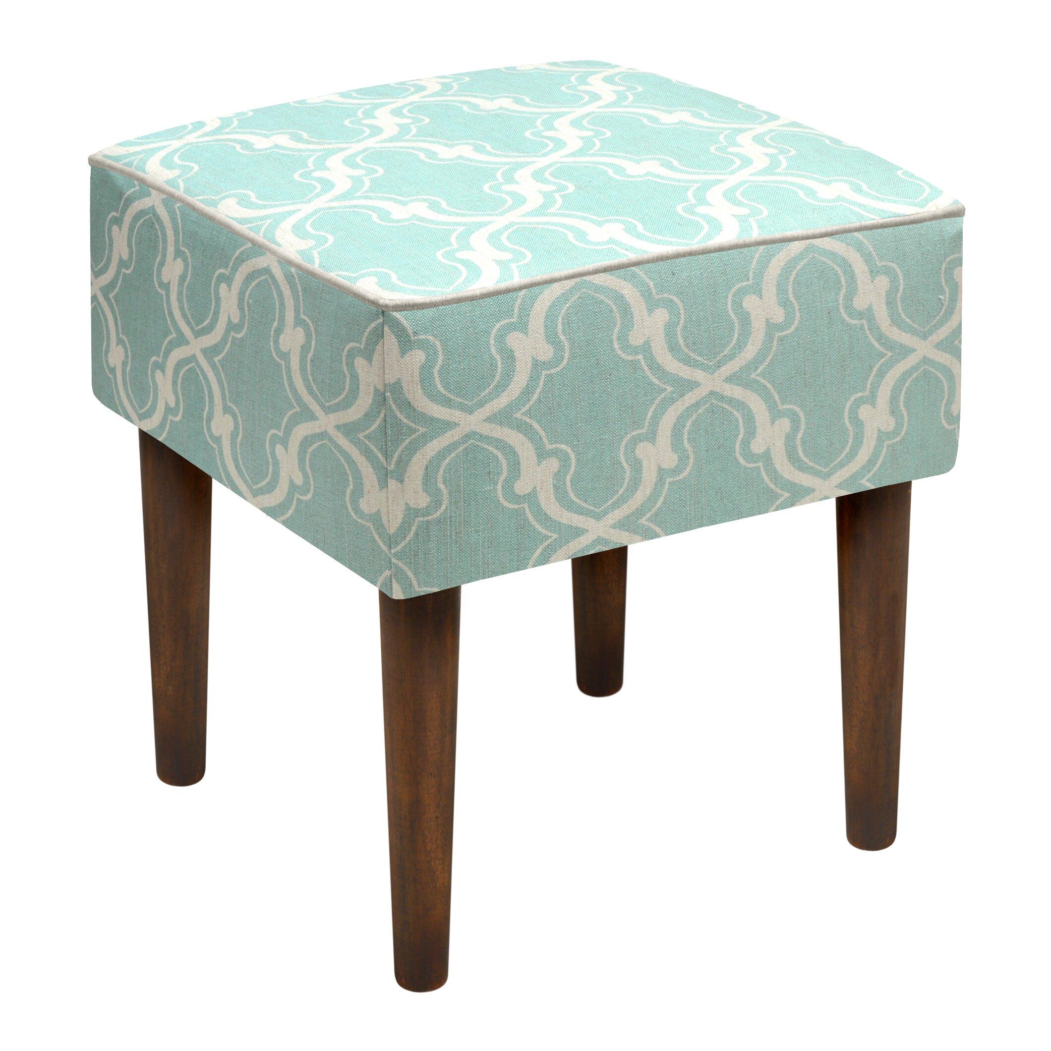 123 Creations Trellis Linen Upholstered Modern Vanity