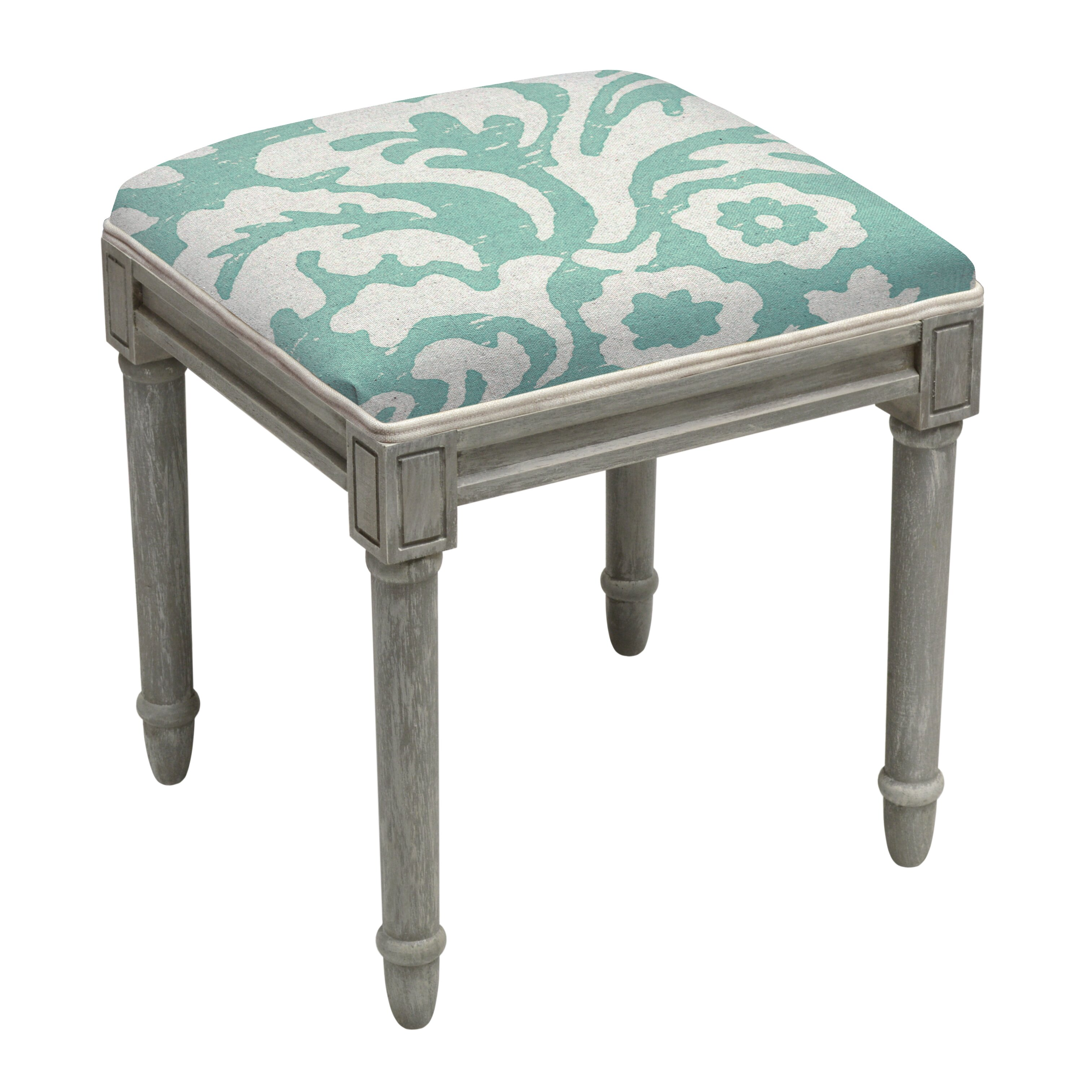 123 Creations Jacobean Floral Upholstered Wooden Vanity